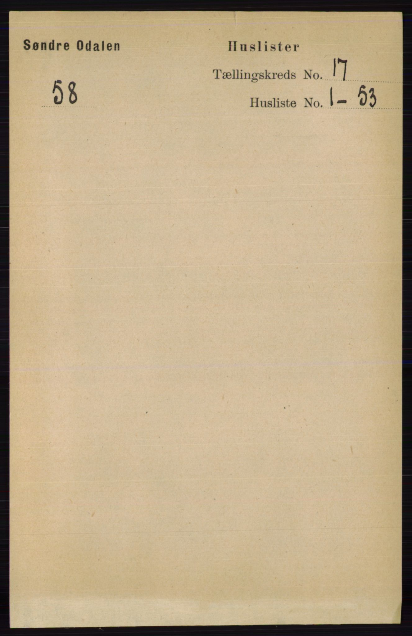 RA, Folketelling 1891 for 0419 Sør-Odal herred, 1891, s. 7779