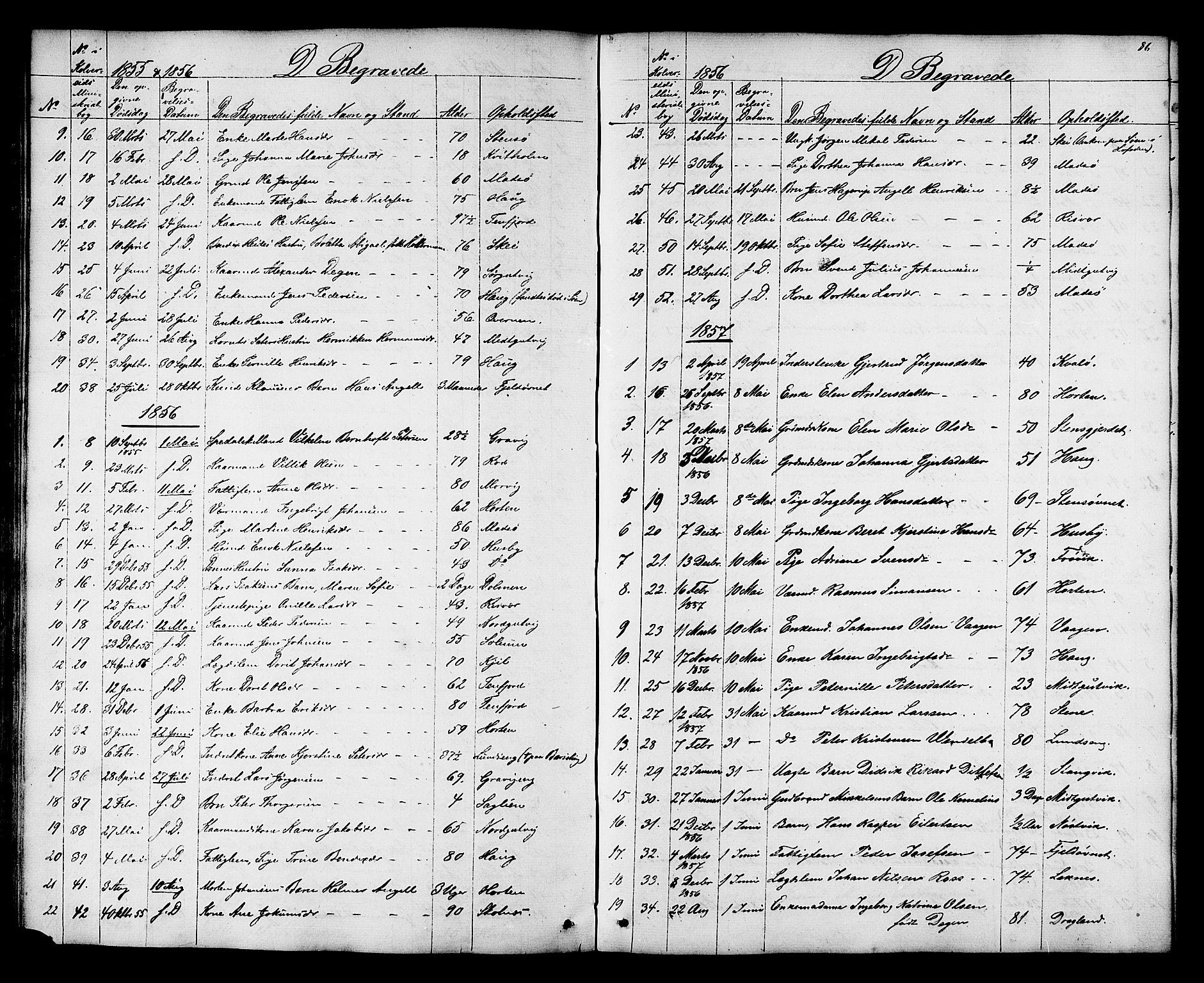 SAT, Ministerialprotokoller, klokkerbøker og fødselsregistre - Nord-Trøndelag, 788/L0695: Ministerialbok nr. 788A02, 1843-1862, s. 86