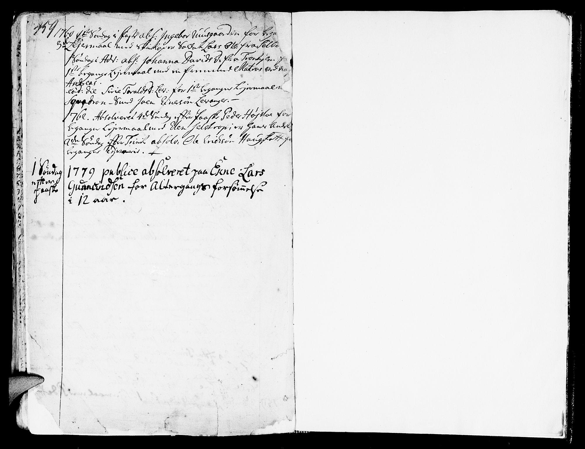 SAT, Ministerialprotokoller, klokkerbøker og fødselsregistre - Nord-Trøndelag, 717/L0141: Ministerialbok nr. 717A01, 1747-1803, s. 459-460