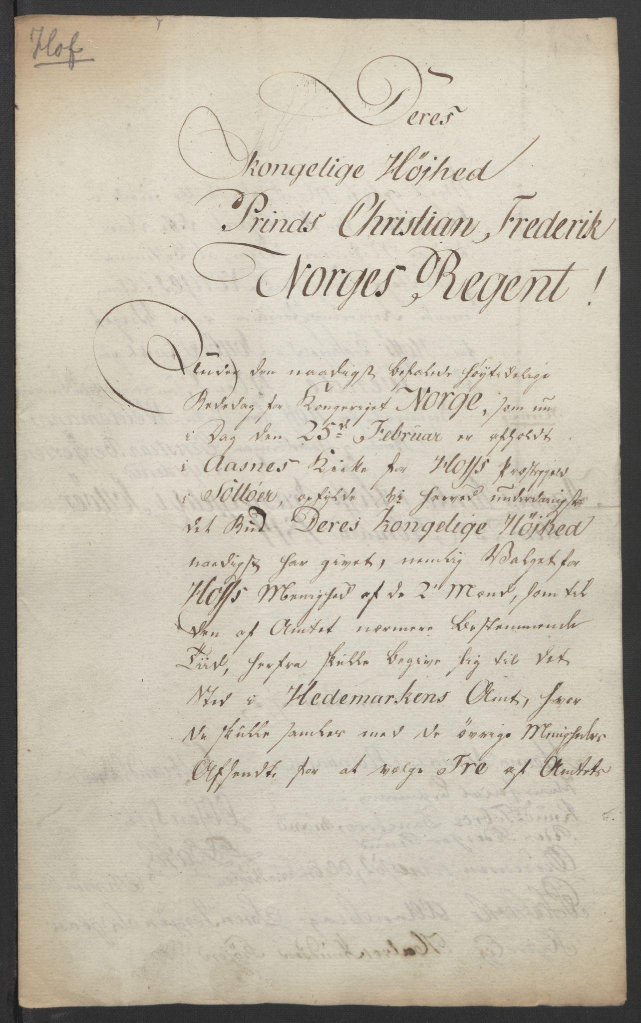 RA, Statsrådssekretariatet, D/Db/L0007: Fullmakter for Eidsvollsrepresentantene i 1814. , 1814, s. 223