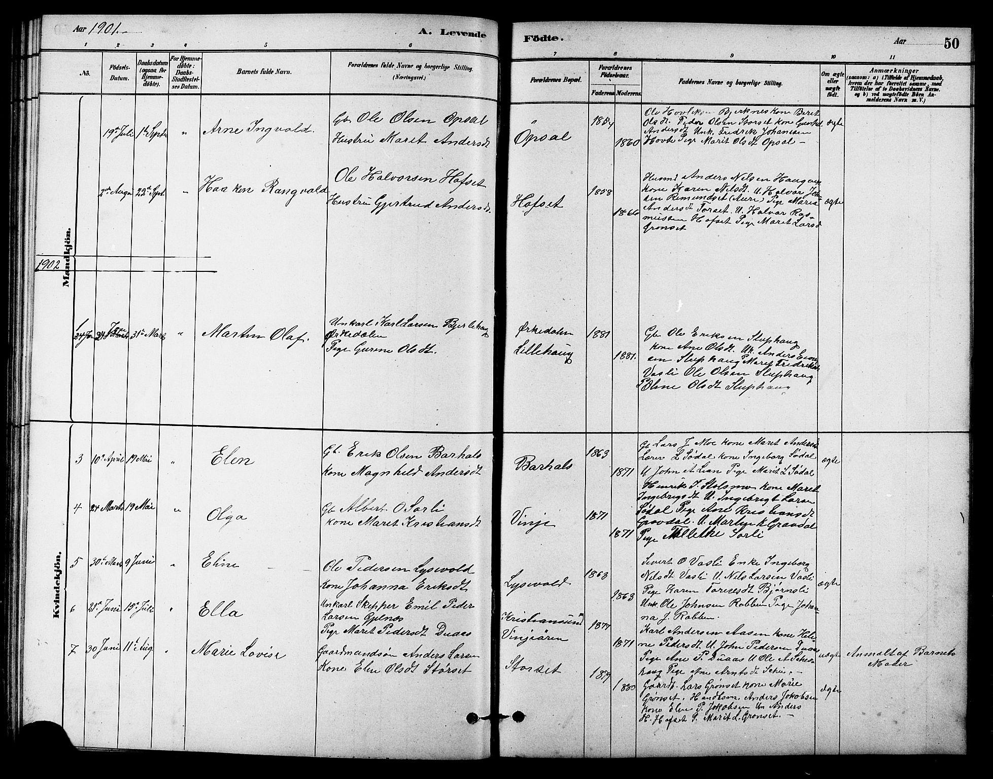 SAT, Ministerialprotokoller, klokkerbøker og fødselsregistre - Sør-Trøndelag, 631/L0514: Klokkerbok nr. 631C02, 1879-1912, s. 50