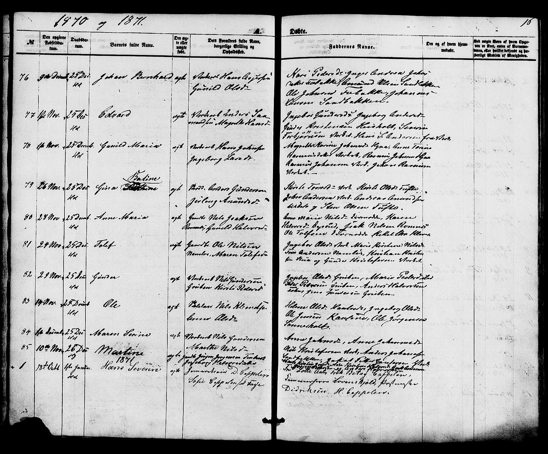 SAKO, Holla kirkebøker, F/Fa/L0007: Ministerialbok nr. 7, 1869-1881, s. 16
