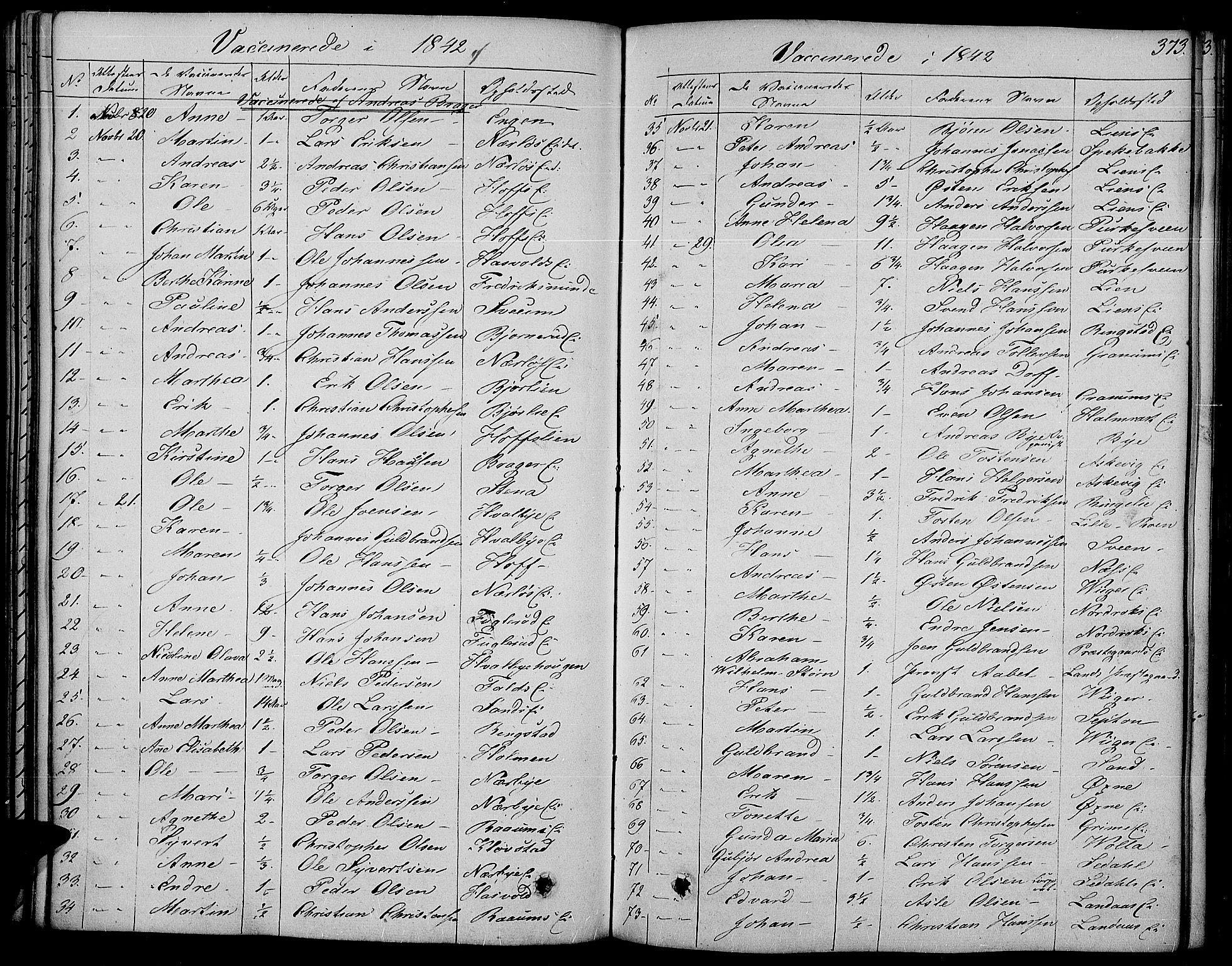 SAH, Land prestekontor, Ministerialbok nr. 8, 1830-1846, s. 373