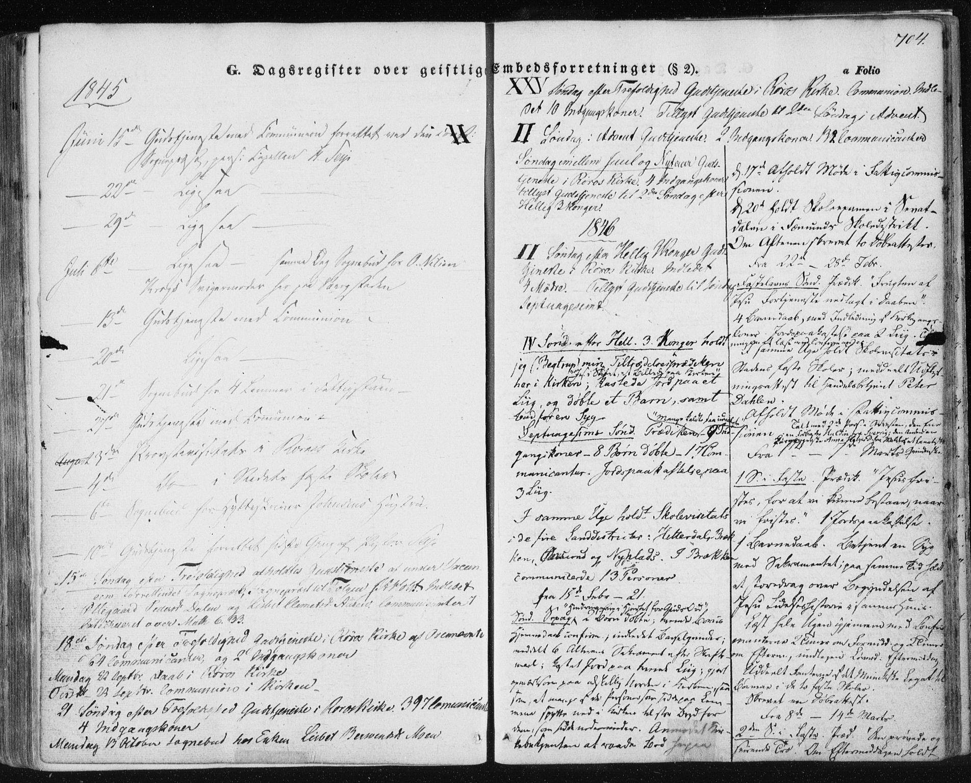 SAT, Ministerialprotokoller, klokkerbøker og fødselsregistre - Sør-Trøndelag, 681/L0931: Ministerialbok nr. 681A09, 1845-1859, s. 704