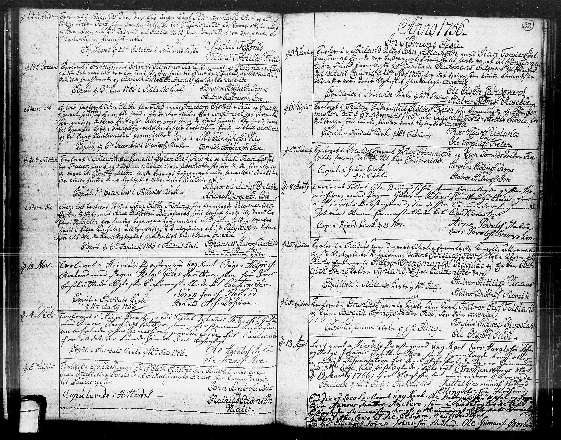 SAKO, Hjartdal kirkebøker, F/Fa/L0004: Ministerialbok nr. I 4, 1727-1795, s. 32