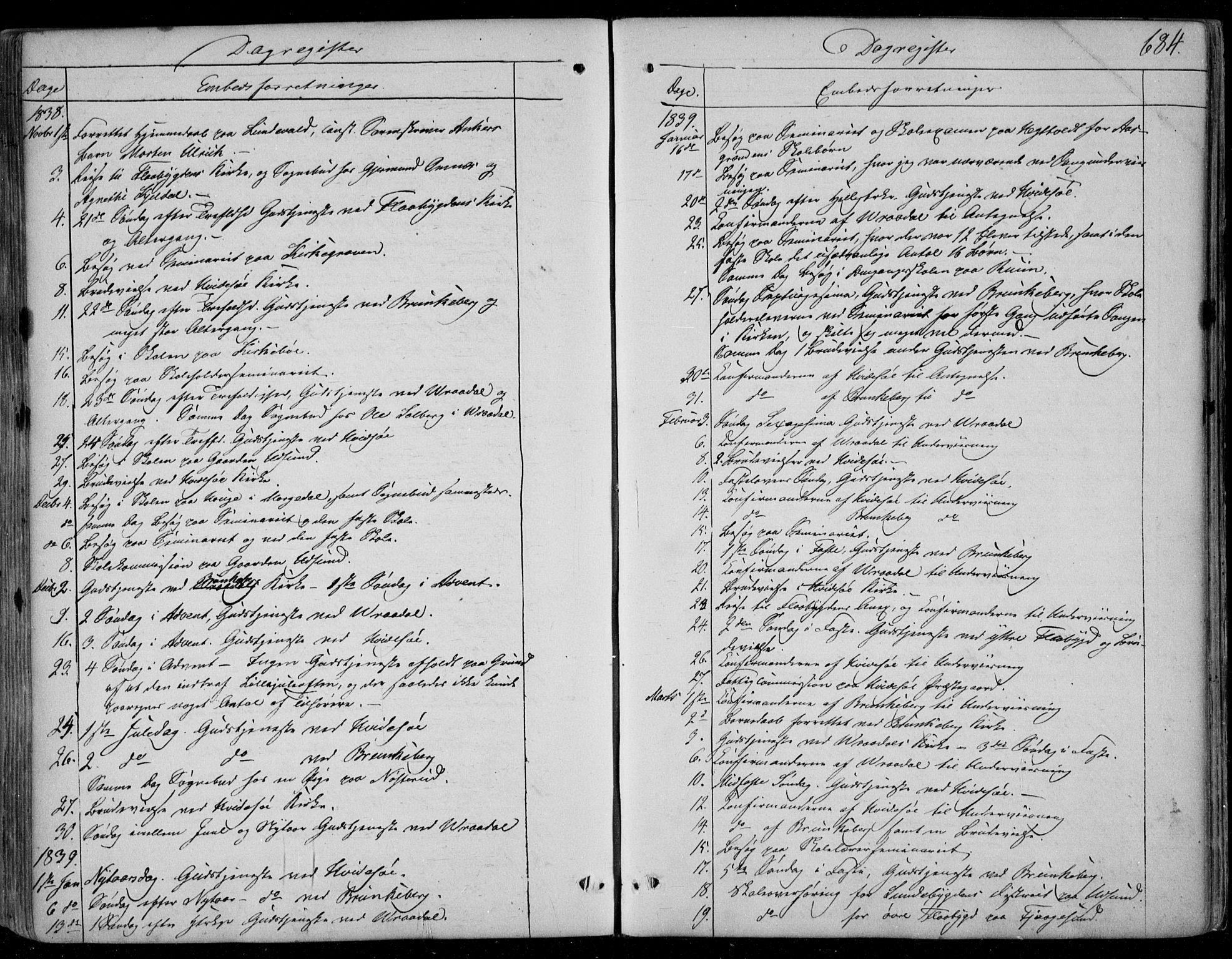 SAKO, Kviteseid kirkebøker, F/Fa/L0006: Ministerialbok nr. I 6, 1836-1858, s. 684