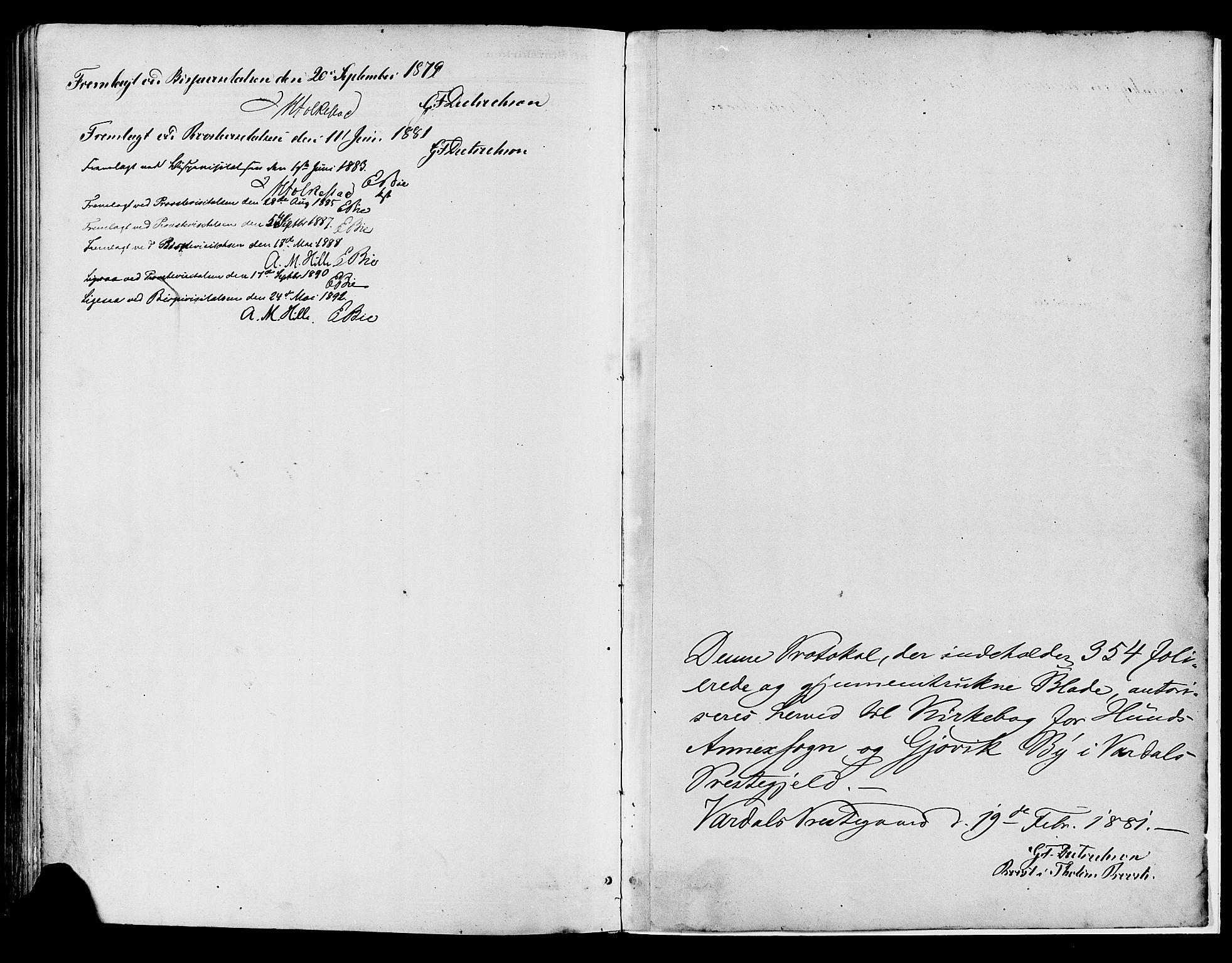 SAH, Vardal prestekontor, H/Ha/Haa/L0008: Ministerialbok nr. 8, 1878-1890
