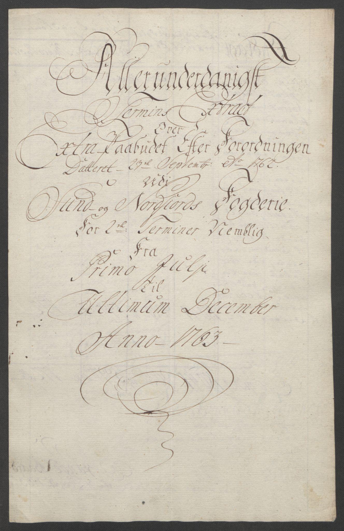 RA, Rentekammeret inntil 1814, Reviderte regnskaper, Fogderegnskap, R53/L3550: Ekstraskatten Sunn- og Nordfjord, 1762-1771, s. 47