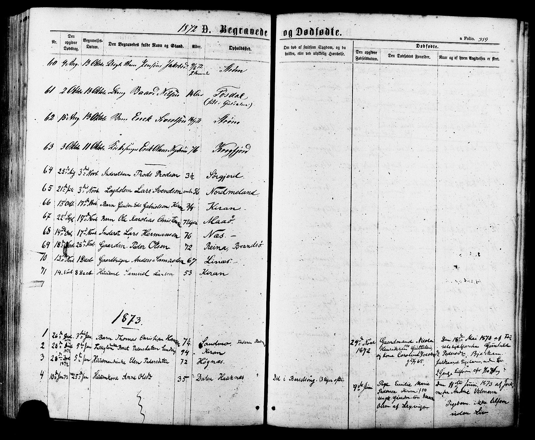 SAT, Ministerialprotokoller, klokkerbøker og fødselsregistre - Sør-Trøndelag, 657/L0706: Ministerialbok nr. 657A07, 1867-1878, s. 359