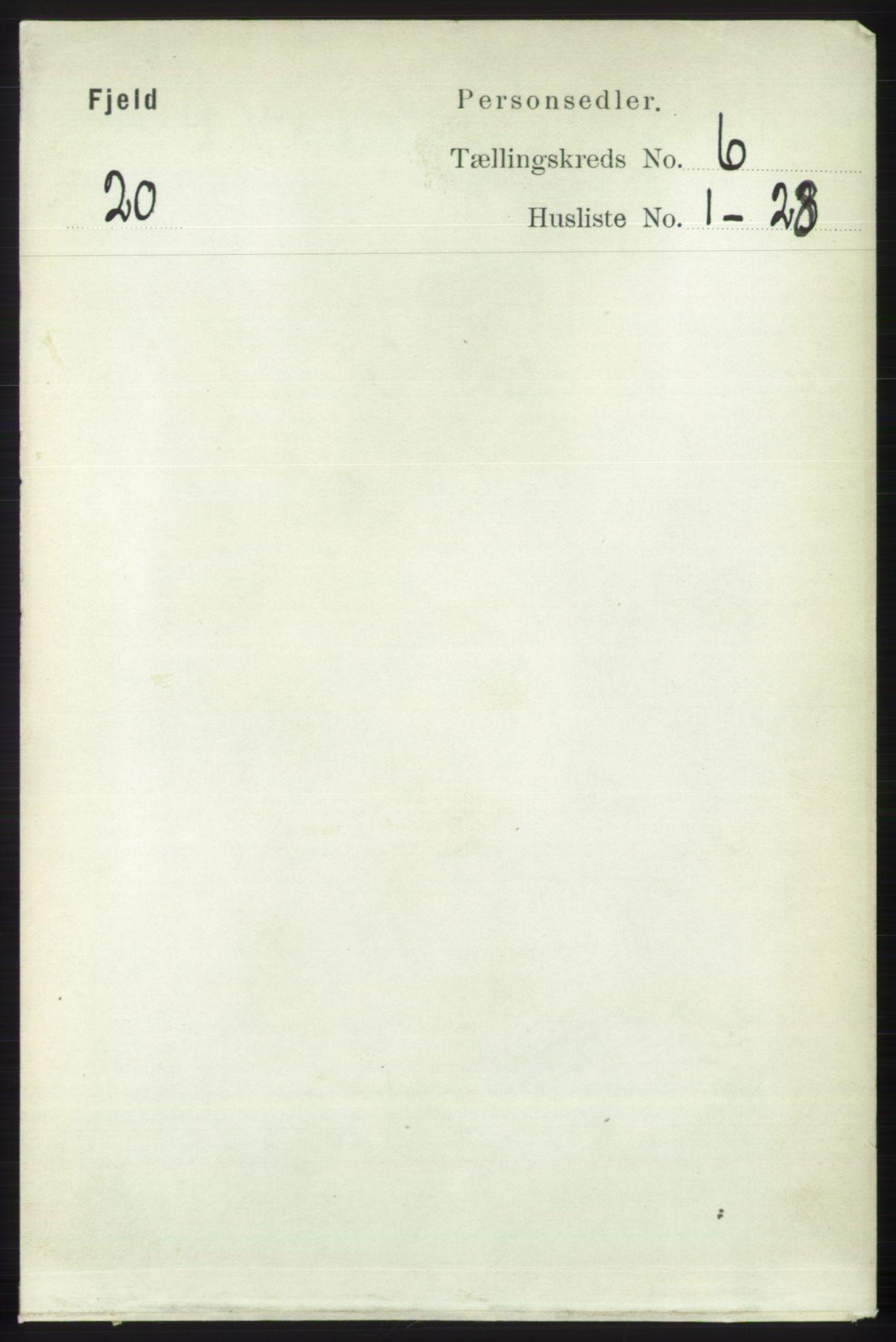 RA, Folketelling 1891 for 1246 Fjell herred, 1891, s. 2997