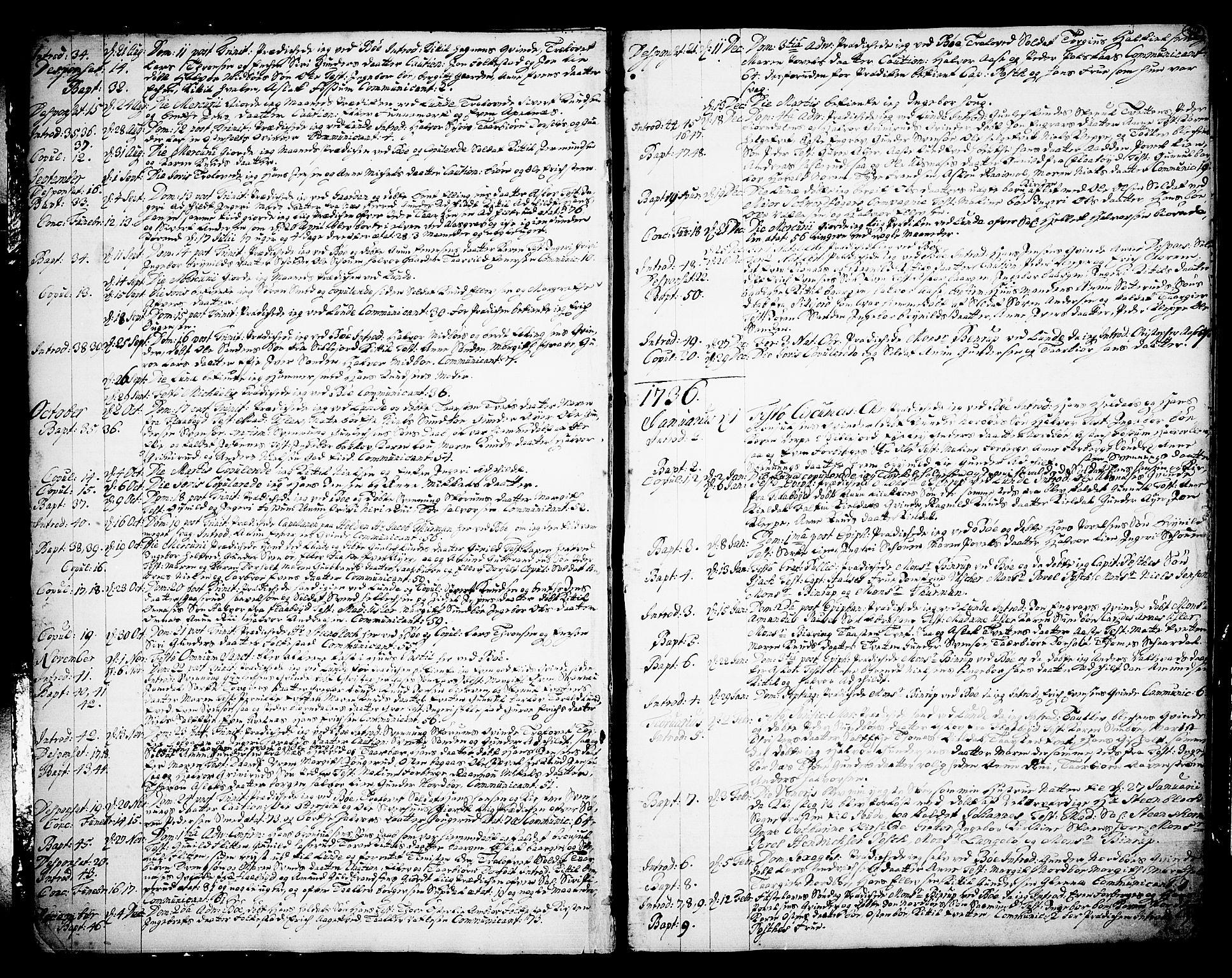 SAKO, Bø kirkebøker, F/Fa/L0003: Ministerialbok nr. 3, 1733-1748, s. 8
