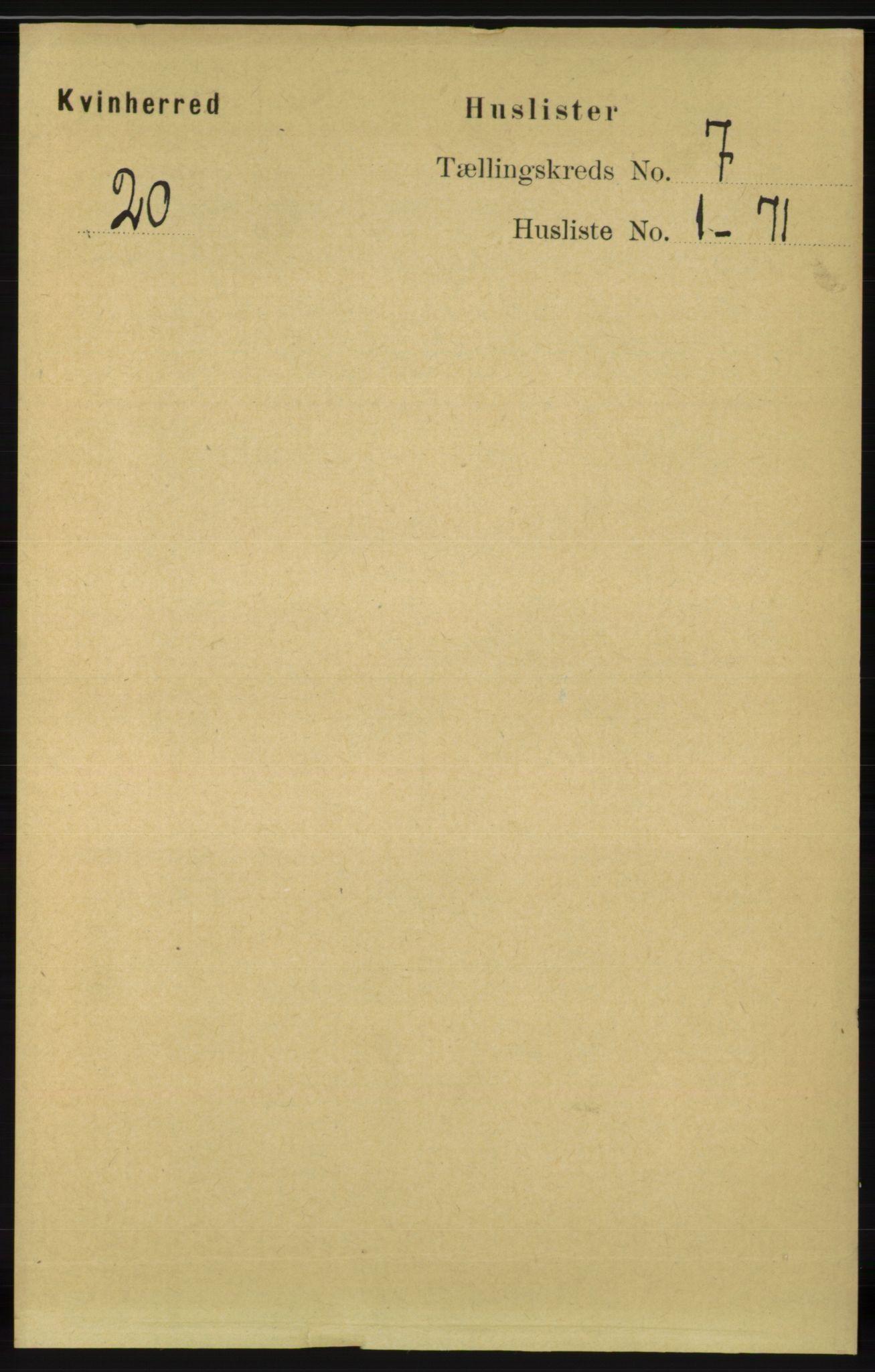 RA, Folketelling 1891 for 1224 Kvinnherad herred, 1891, s. 2375