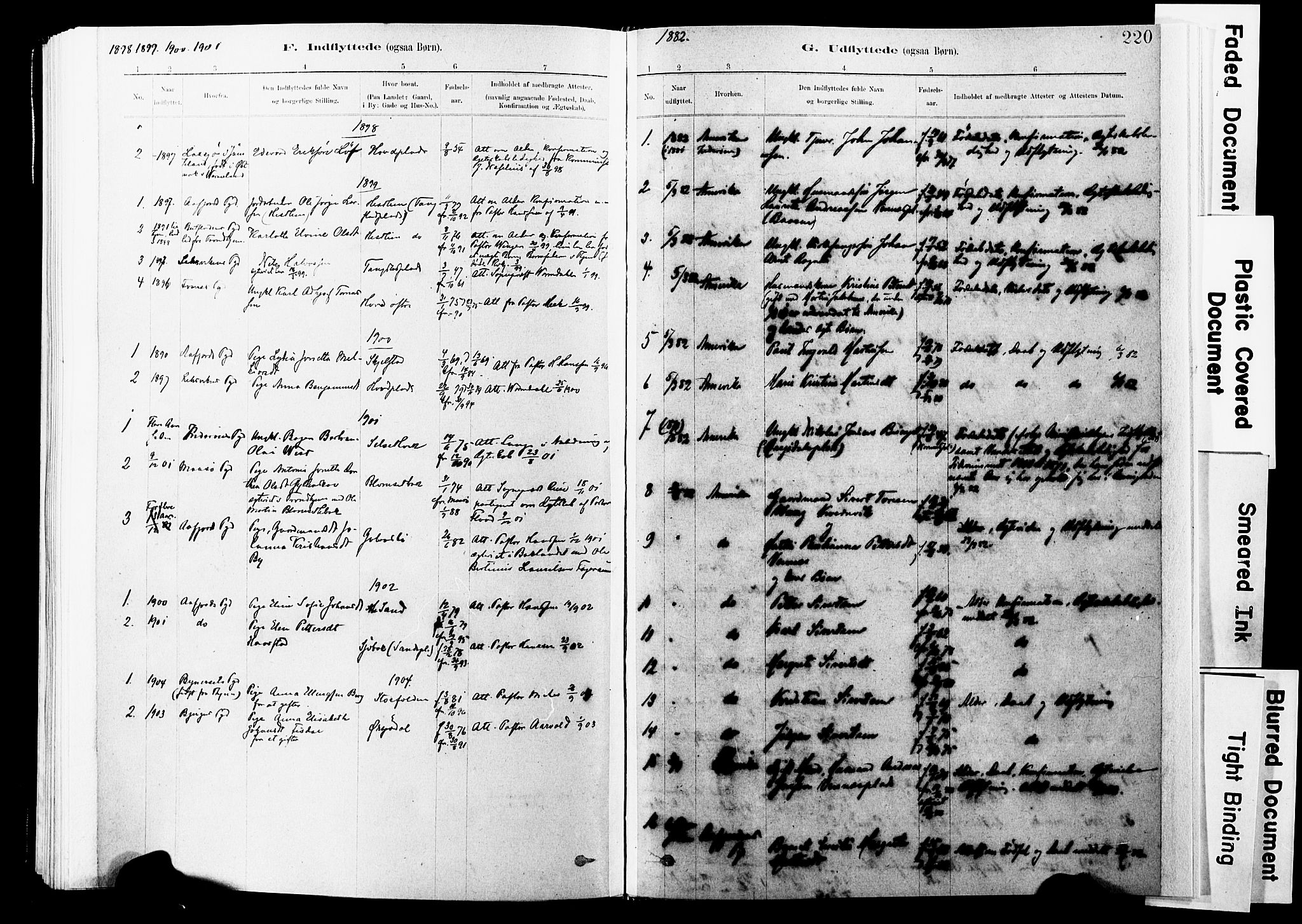 SAT, Ministerialprotokoller, klokkerbøker og fødselsregistre - Nord-Trøndelag, 744/L0420: Ministerialbok nr. 744A04, 1882-1904, s. 220