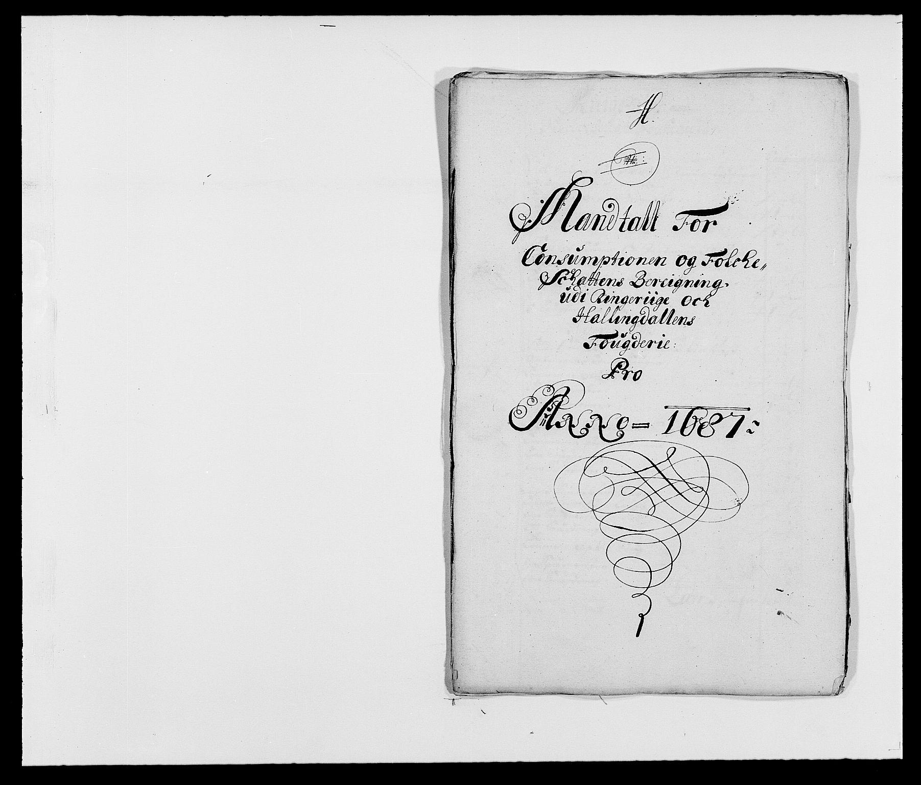RA, Rentekammeret inntil 1814, Reviderte regnskaper, Fogderegnskap, R21/L1447: Fogderegnskap Ringerike og Hallingdal, 1687-1689, s. 66