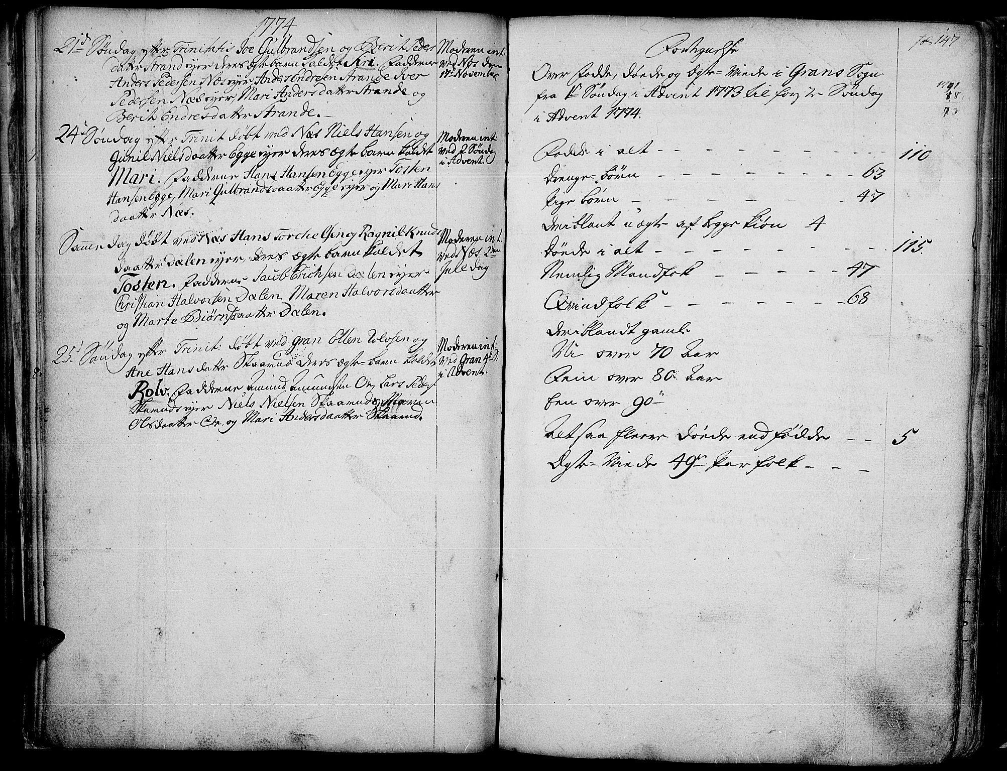 SAH, Gran prestekontor, Ministerialbok nr. 4, 1759-1775, s. 147