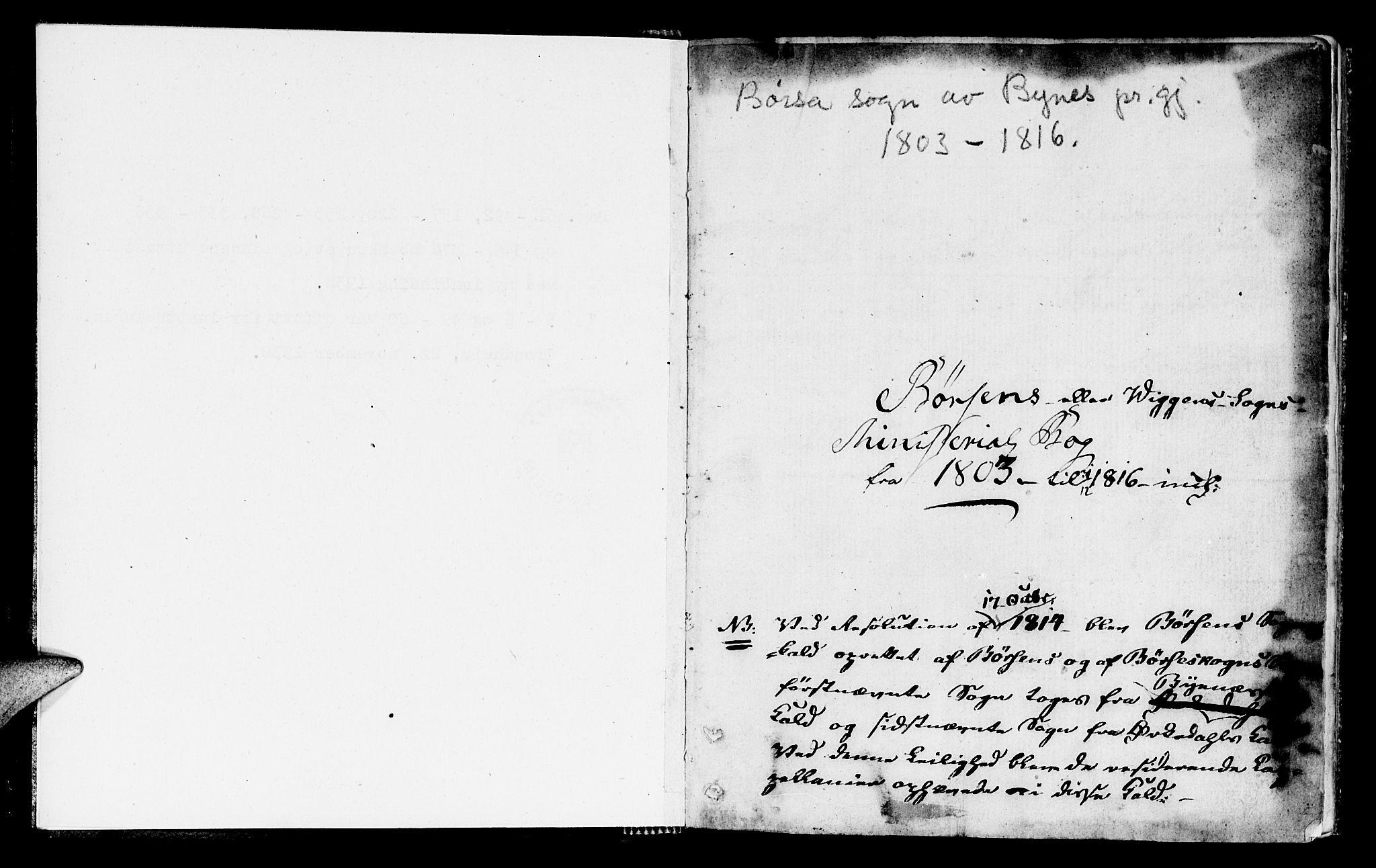 SAT, Ministerialprotokoller, klokkerbøker og fødselsregistre - Sør-Trøndelag, 665/L0769: Ministerialbok nr. 665A04, 1803-1816, s. 0-1