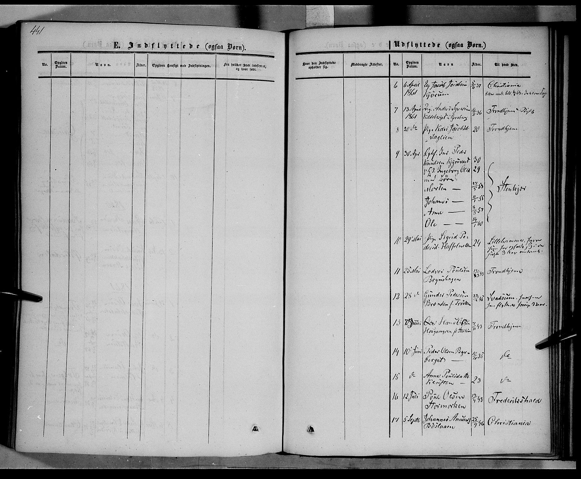 SAH, Nord-Fron prestekontor, Ministerialbok nr. 1, 1851-1864, s. 441