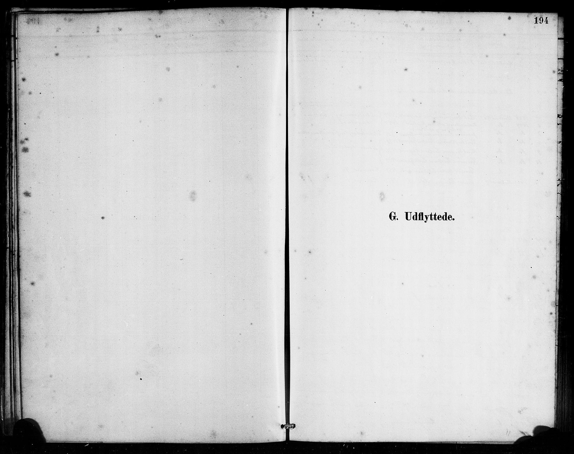 SAB, Bremanger Sokneprestembete, H/Haa: Ministerialbok nr. B 1, 1884-1895, s. 194