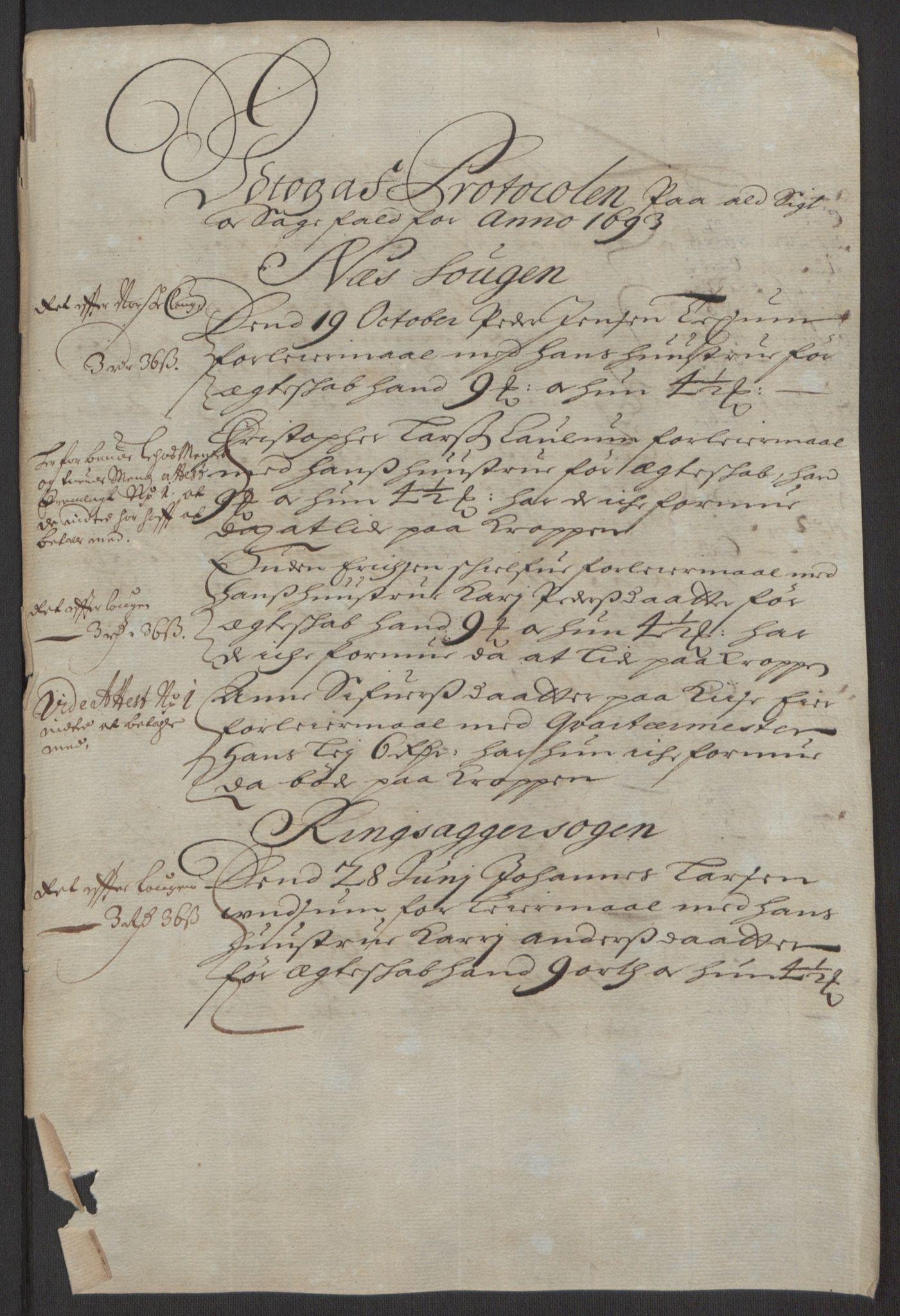 RA, Rentekammeret inntil 1814, Reviderte regnskaper, Fogderegnskap, R16/L1034: Fogderegnskap Hedmark, 1693, s. 220