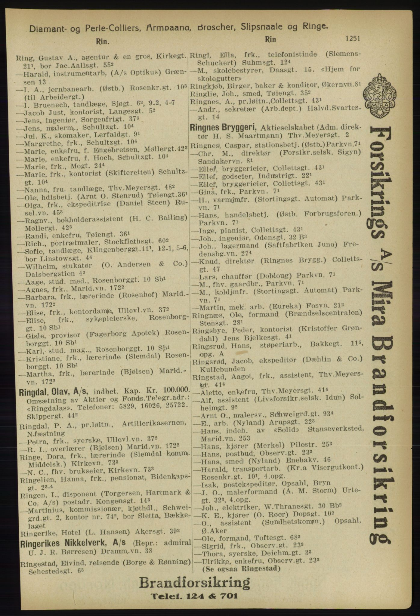 PUBL, Kristiania/Oslo adressebok, 1918, s. 1276