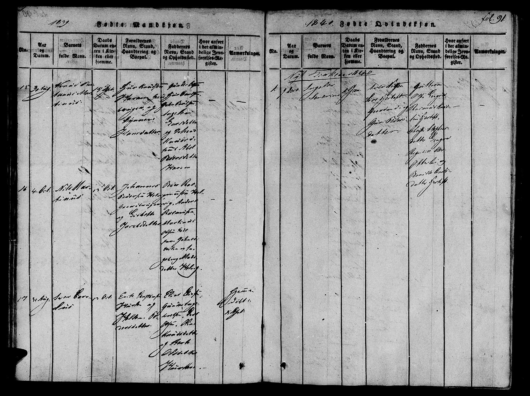 SAT, Ministerialprotokoller, klokkerbøker og fødselsregistre - Møre og Romsdal, 536/L0495: Ministerialbok nr. 536A04, 1818-1847, s. 91