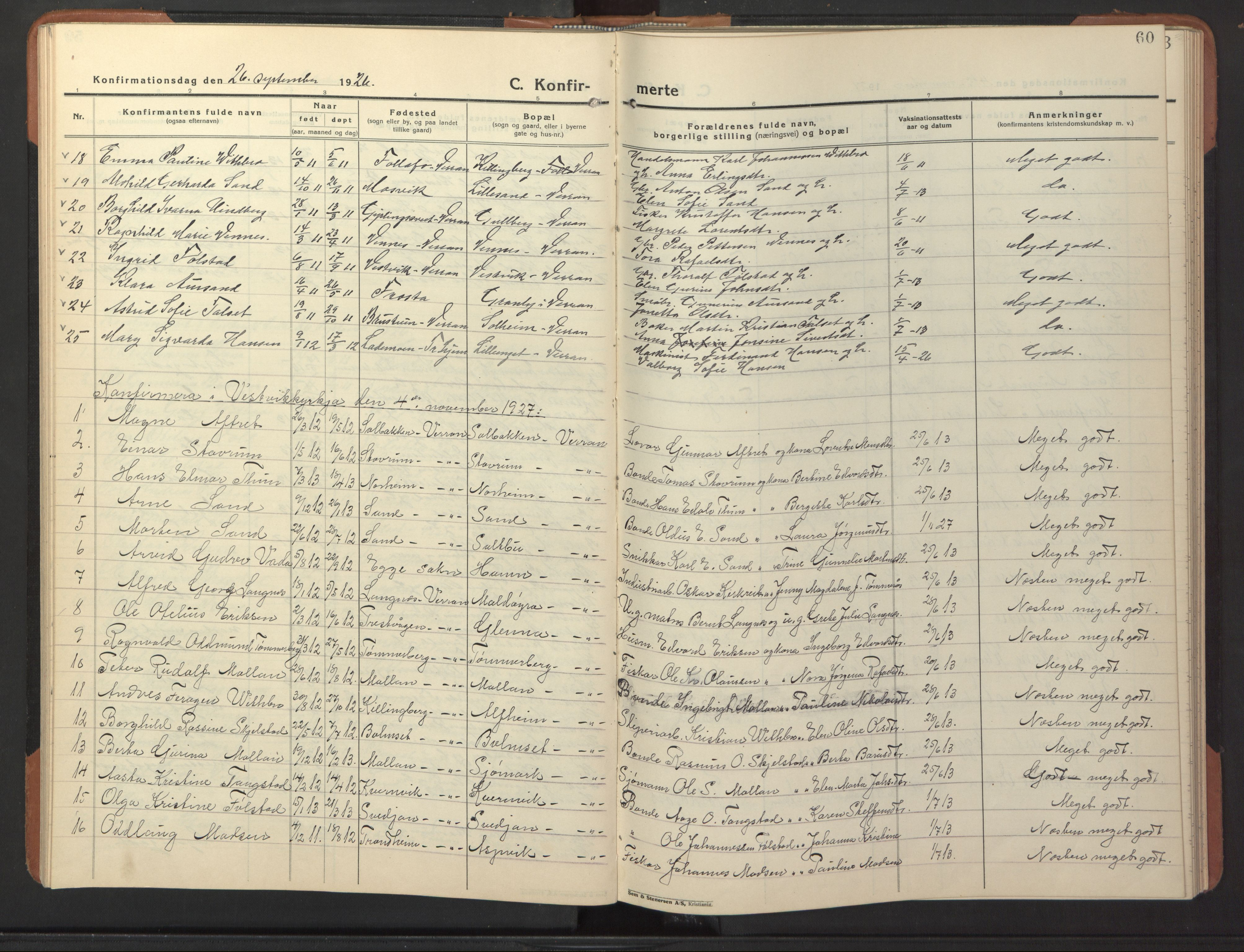 SAT, Ministerialprotokoller, klokkerbøker og fødselsregistre - Nord-Trøndelag, 744/L0425: Klokkerbok nr. 744C04, 1924-1947, s. 60