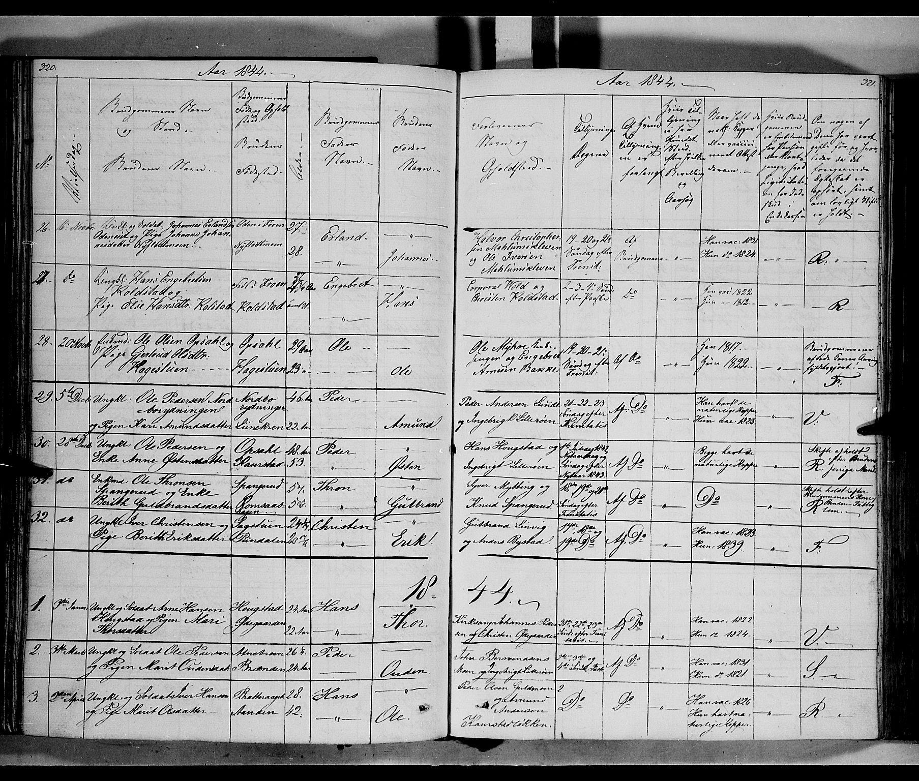 SAH, Ringebu prestekontor, Ministerialbok nr. 5, 1839-1848, s. 320-321