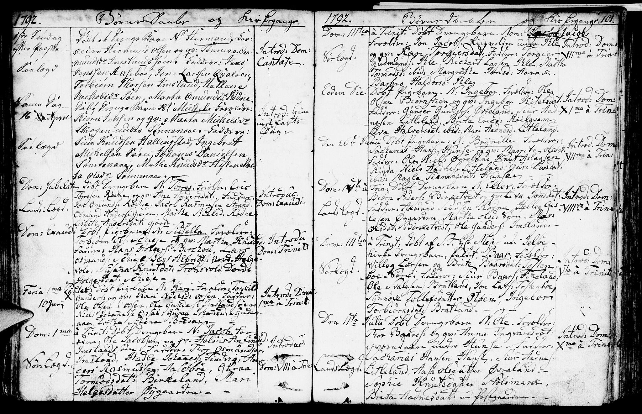 SAST, Vikedal sokneprestkontor, IV: Ministerialbok nr. A 2, 1779-1817, s. 101