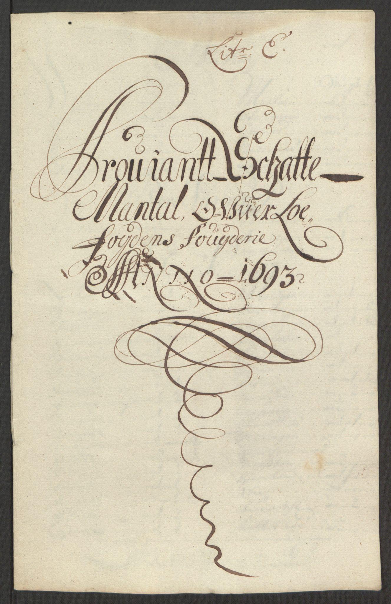 RA, Rentekammeret inntil 1814, Reviderte regnskaper, Fogderegnskap, R67/L4675: Fogderegnskap Vesterålen, Andenes og Lofoten, 1691-1693, s. 264