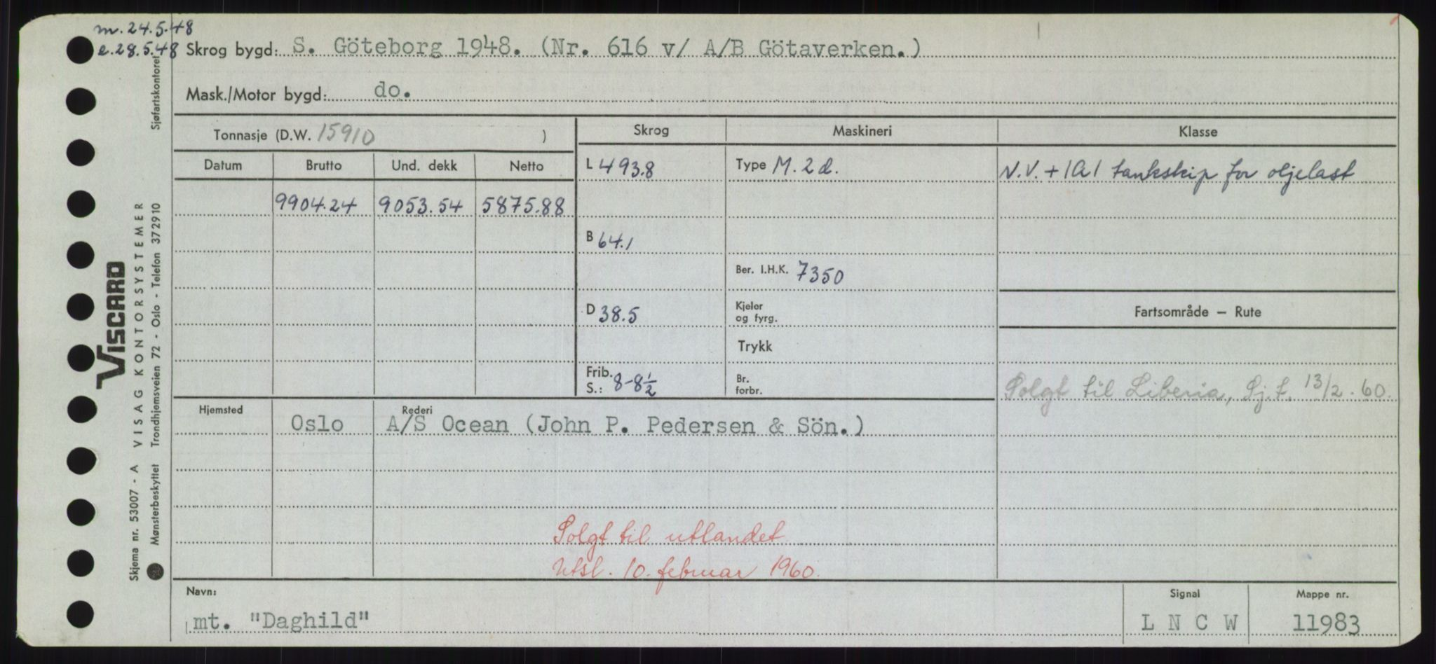 RA, Sjøfartsdirektoratet med forløpere, Skipsmålingen, H/Hd/L0008: Fartøy, C-D, s. 331