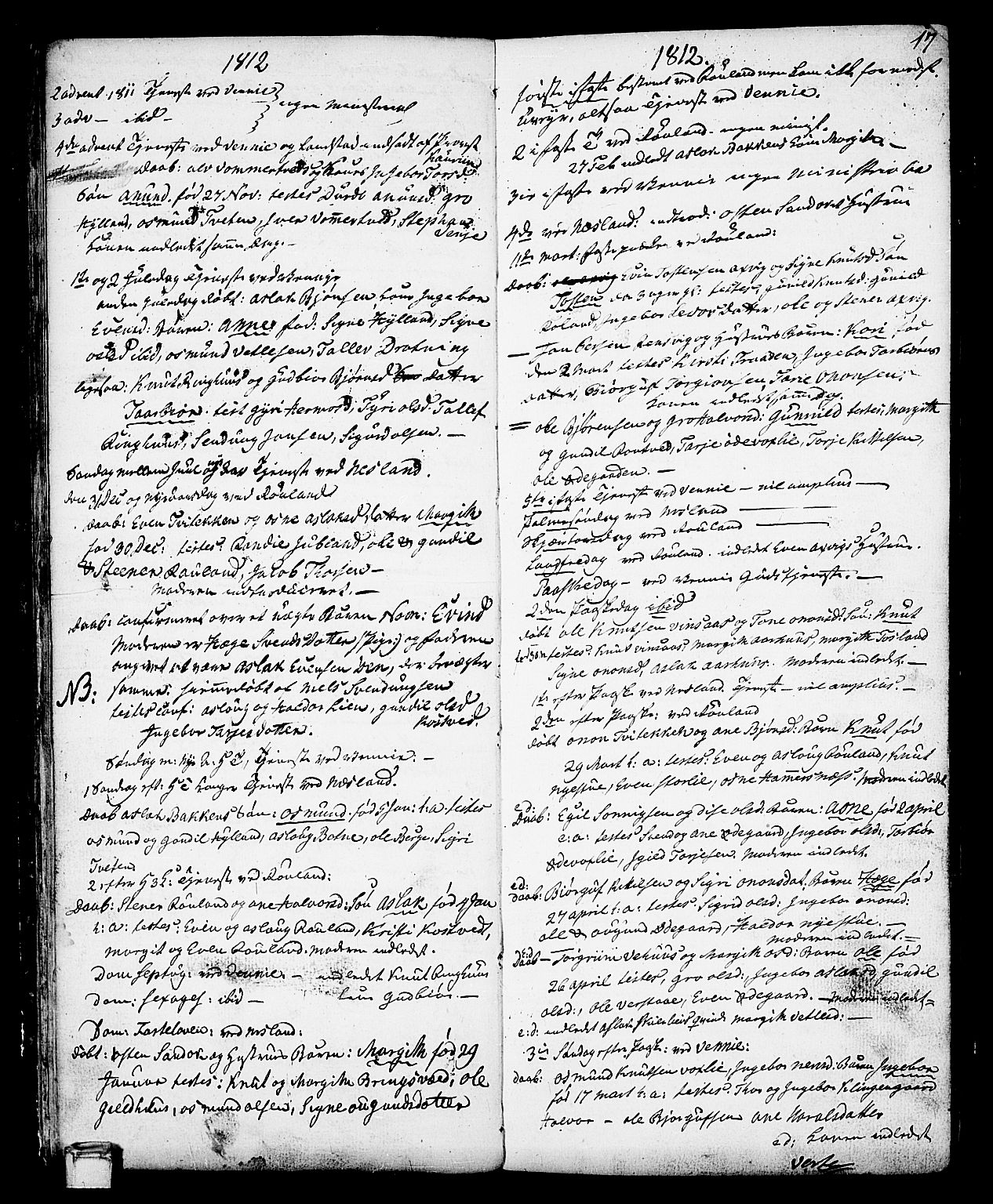 SAKO, Vinje kirkebøker, F/Fa/L0002: Ministerialbok nr. I 2, 1767-1814, s. 17