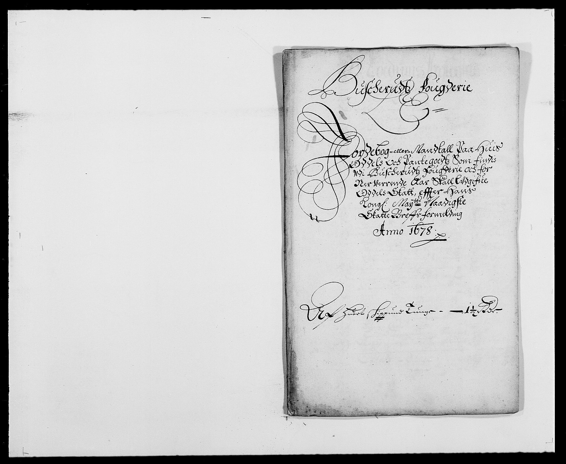 RA, Rentekammeret inntil 1814, Reviderte regnskaper, Fogderegnskap, R25/L1674: Fogderegnskap Buskerud, 1678-1681, s. 123