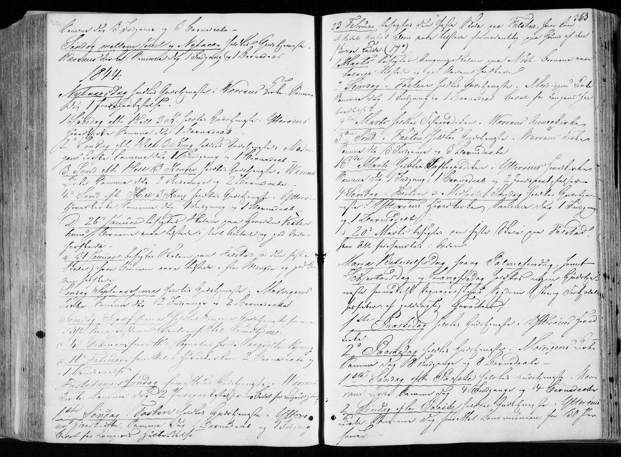 SAT, Ministerialprotokoller, klokkerbøker og fødselsregistre - Nord-Trøndelag, 722/L0218: Ministerialbok nr. 722A05, 1843-1868, s. 363