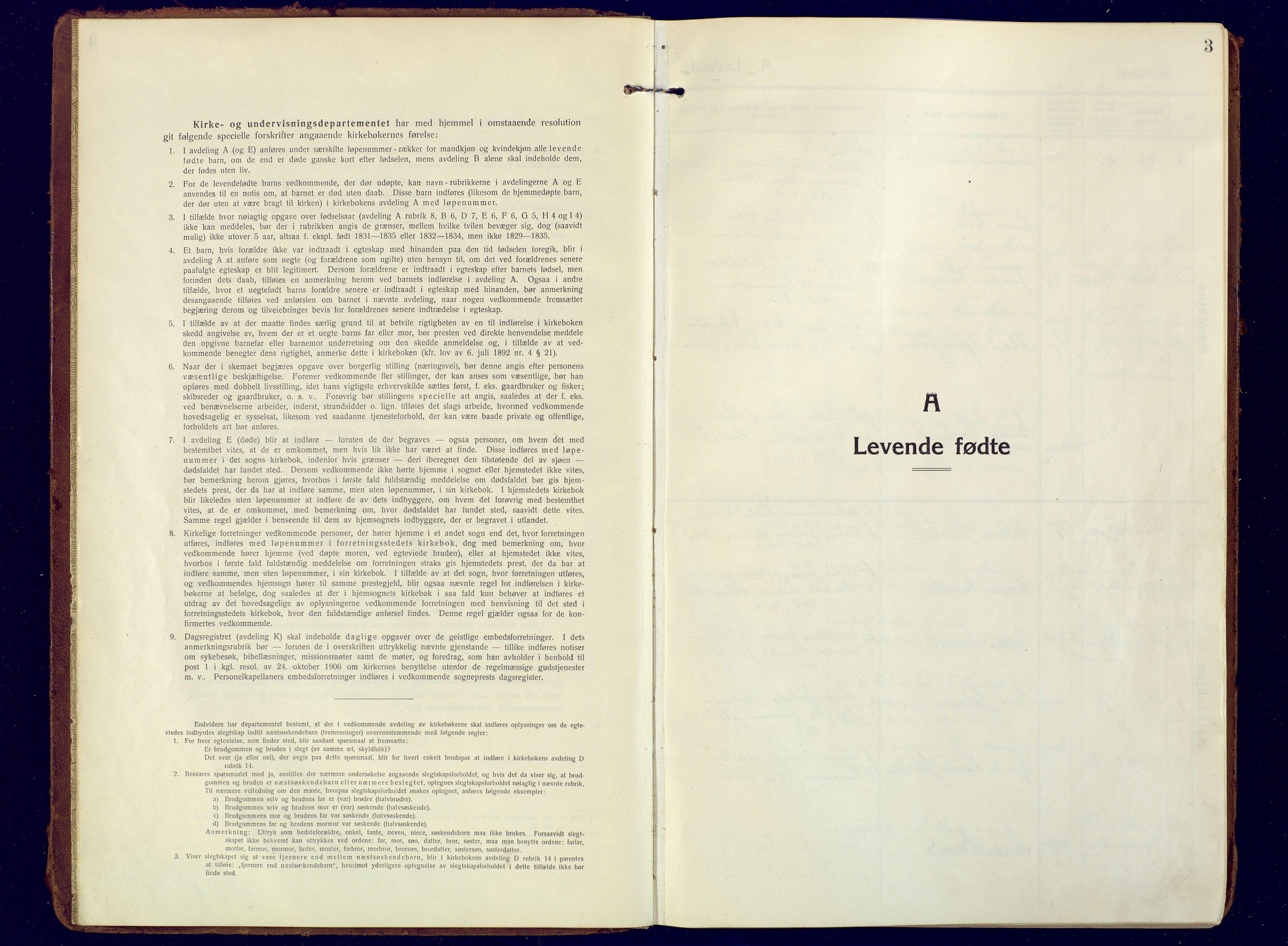 SATØ, Mefjord/Berg sokneprestkontor, G/Ga/Gaa: Ministerialbok nr. 10, 1916-1928, s. 3