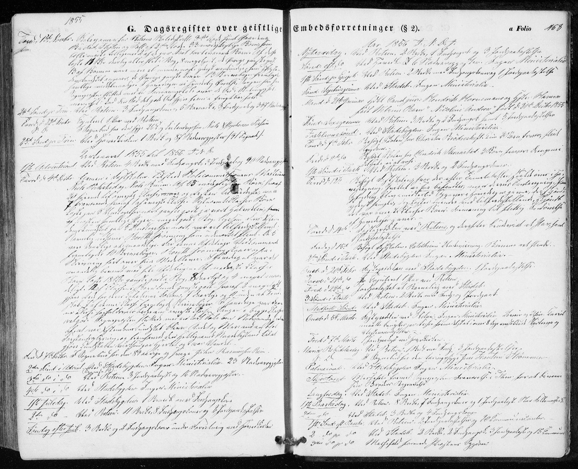 SAT, Ministerialprotokoller, klokkerbøker og fødselsregistre - Sør-Trøndelag, 646/L0611: Ministerialbok nr. 646A09, 1848-1857, s. 468