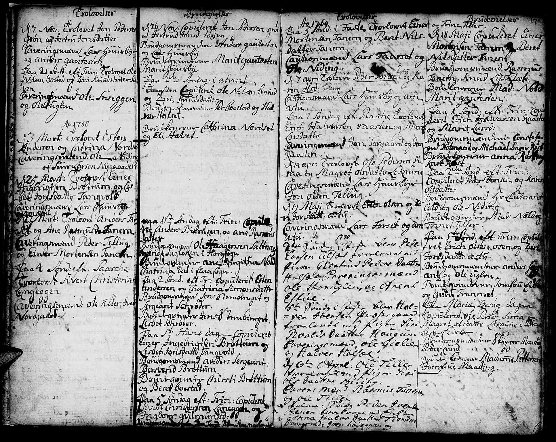 SAT, Ministerialprotokoller, klokkerbøker og fødselsregistre - Sør-Trøndelag, 618/L0437: Ministerialbok nr. 618A02, 1749-1782, s. 17