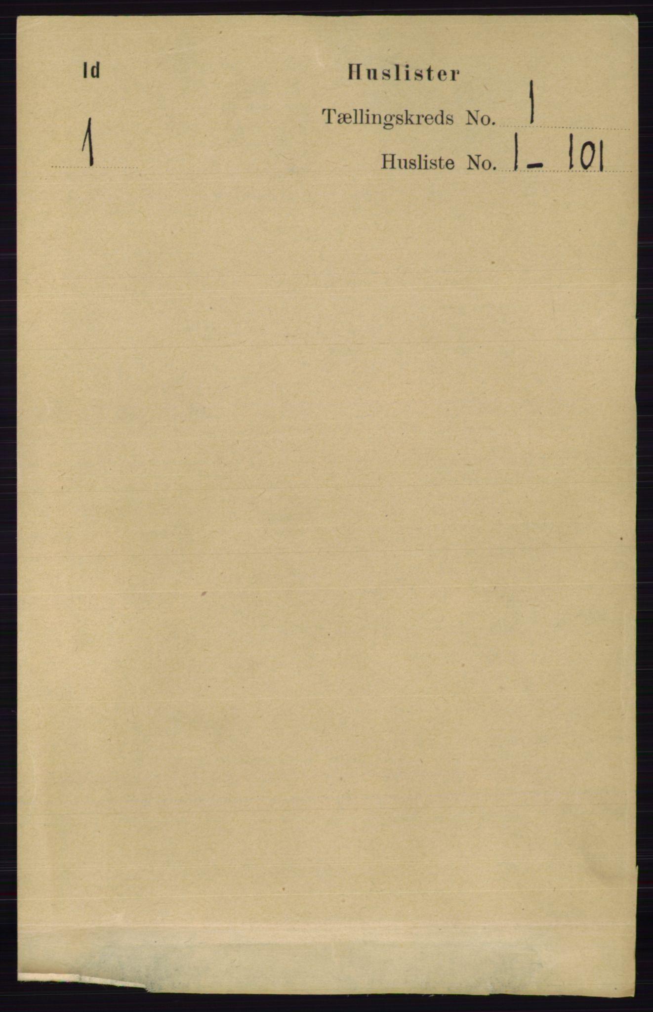 RA, Folketelling 1891 for 0117 Idd herred, 1891, s. 23