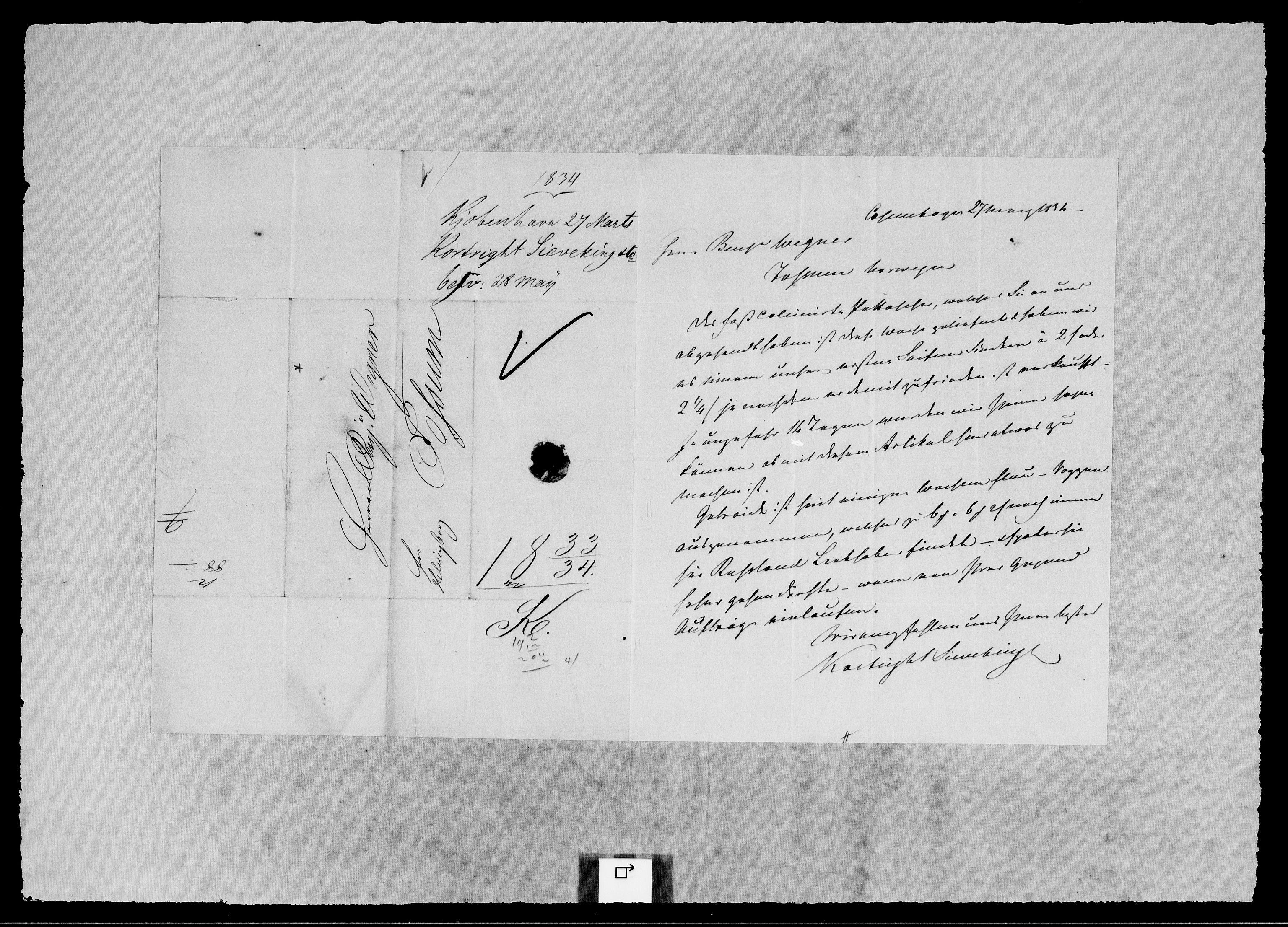 RA, Modums Blaafarveværk, G/Gb/L0112, 1833-1834, s. 2