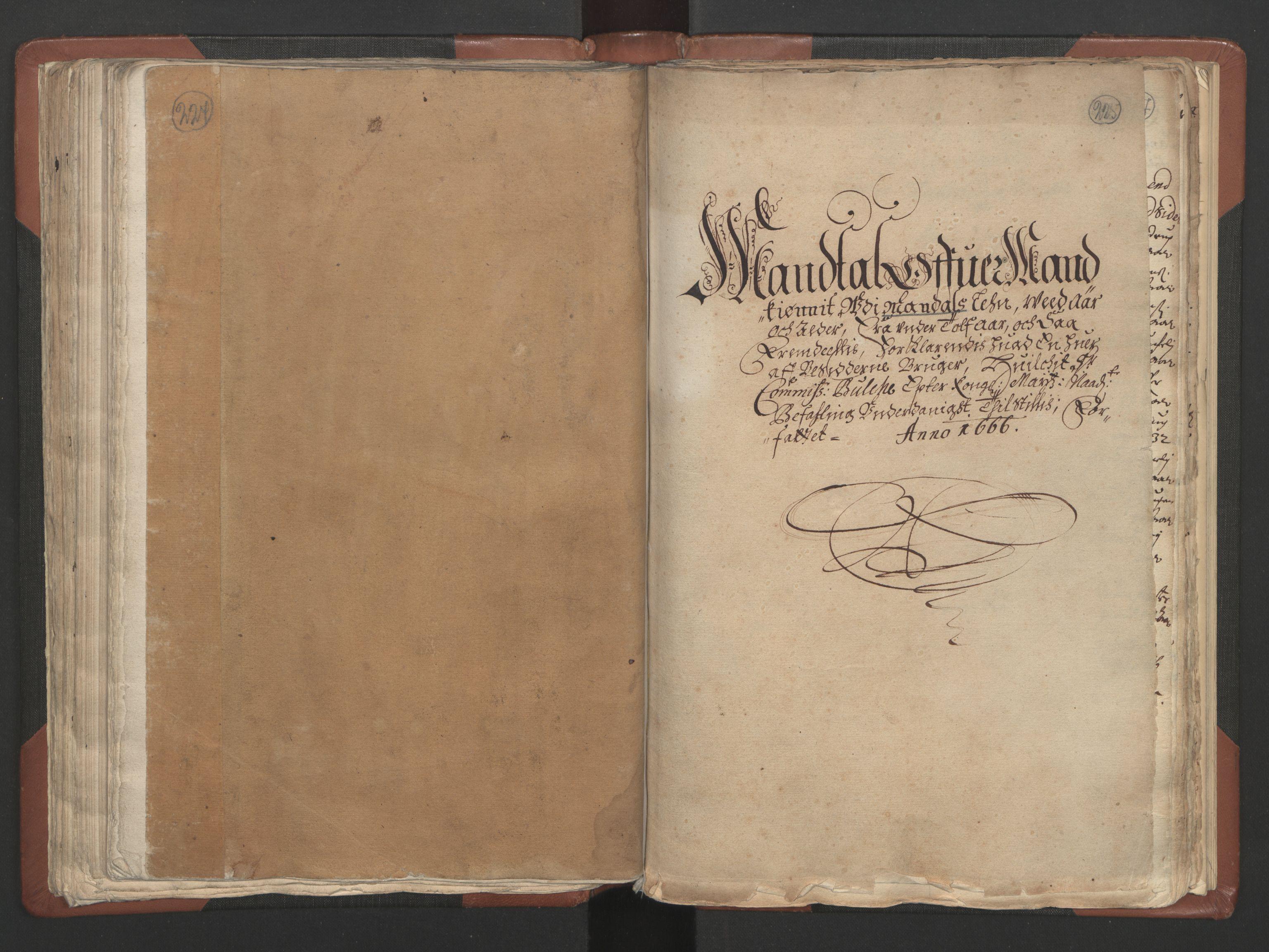 RA, Fogdenes og sorenskrivernes manntall 1664-1666, nr. 9: Mandal len, 1664-1666, s. 224-225