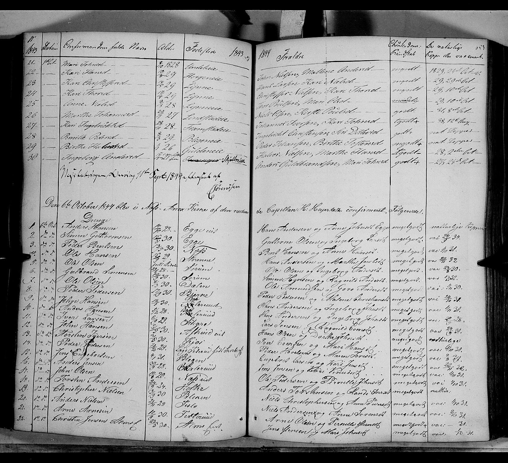 SAH, Gran prestekontor, Ministerialbok nr. 11, 1842-1856, s. 652-653