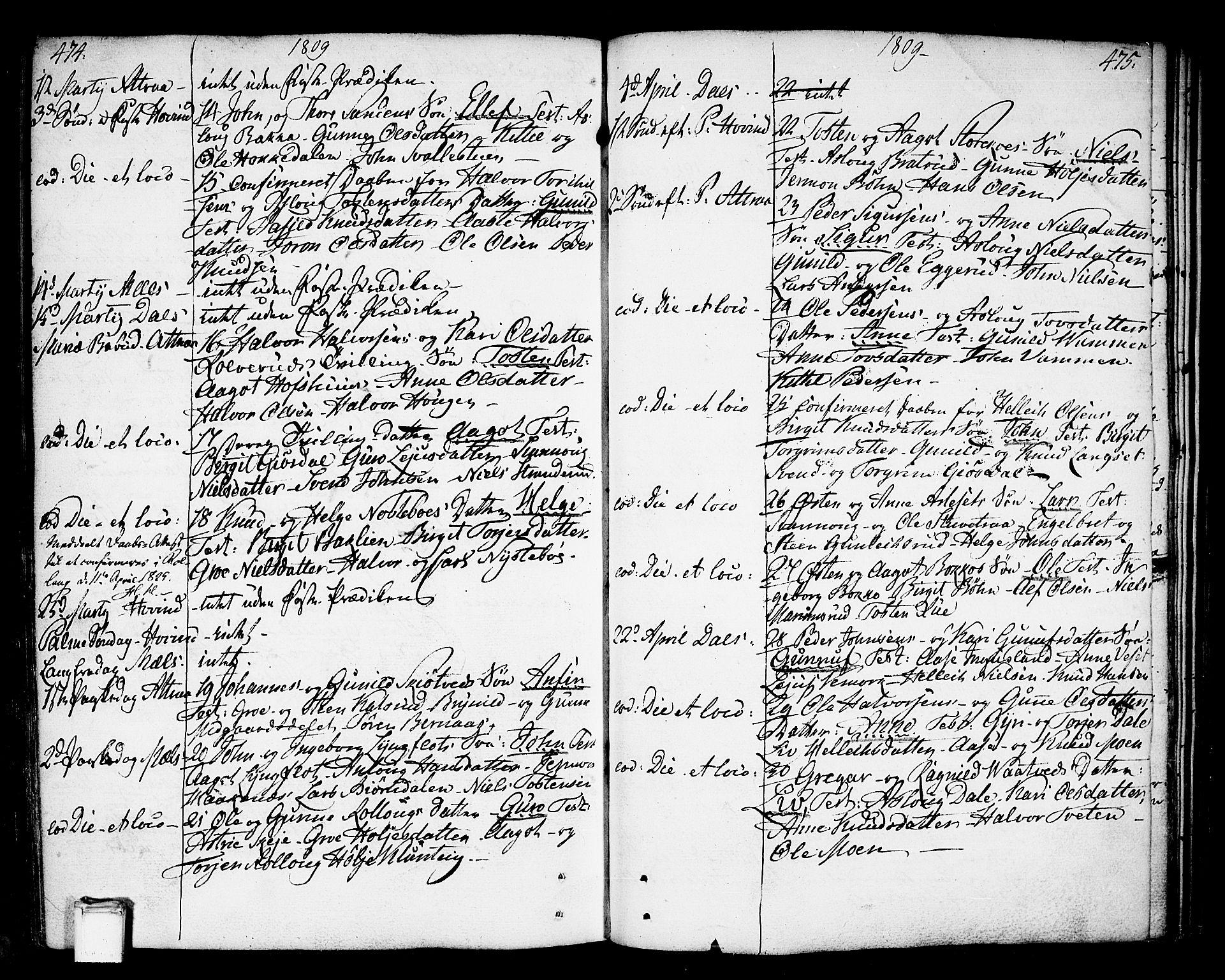 SAKO, Tinn kirkebøker, F/Fa/L0002: Ministerialbok nr. I 2, 1757-1810, s. 474-475