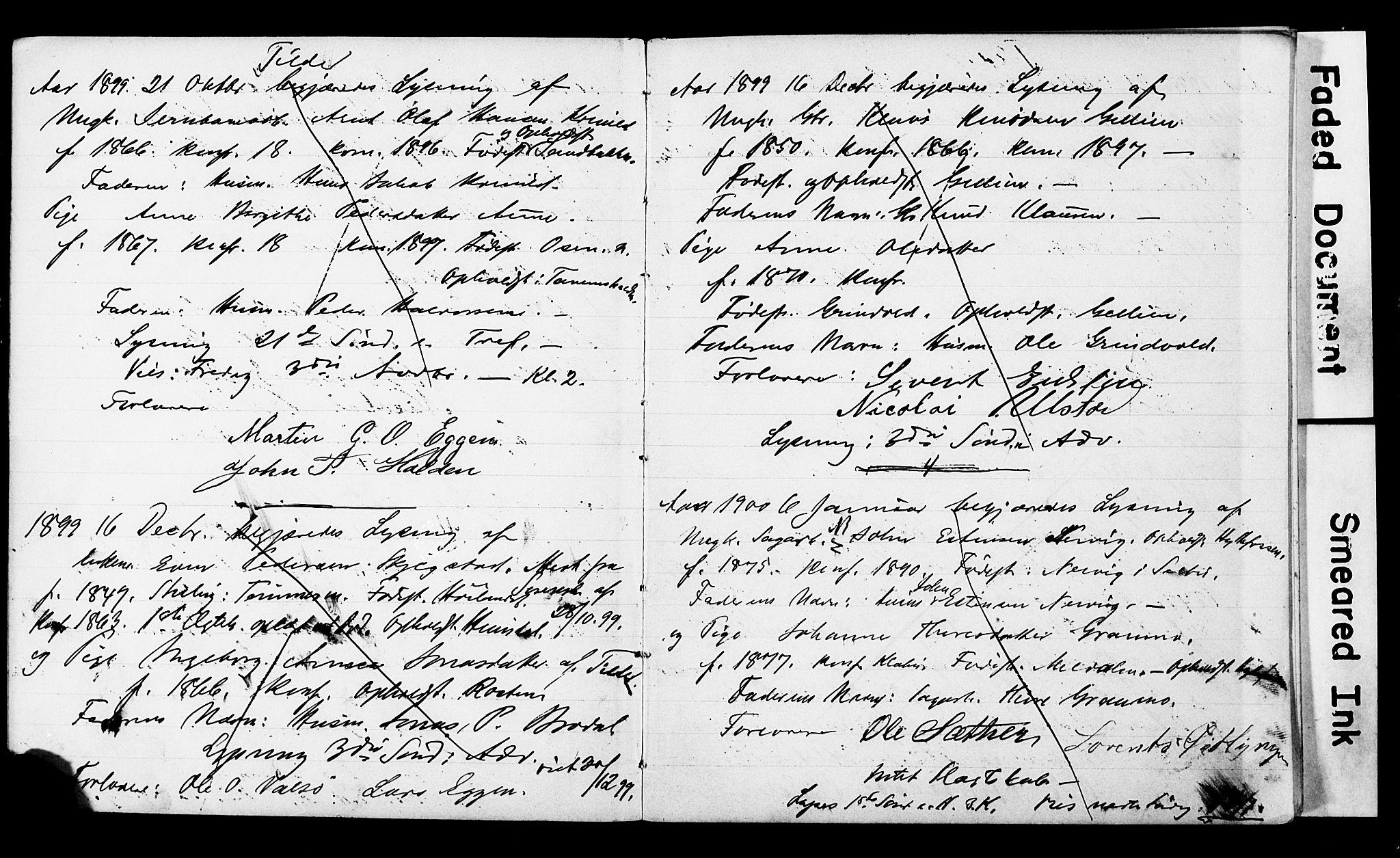 SAT, Ministerialprotokoller, klokkerbøker og fødselsregistre - Sør-Trøndelag, 618/L0446: Lysningsprotokoll nr. 618A09, 1899-1916
