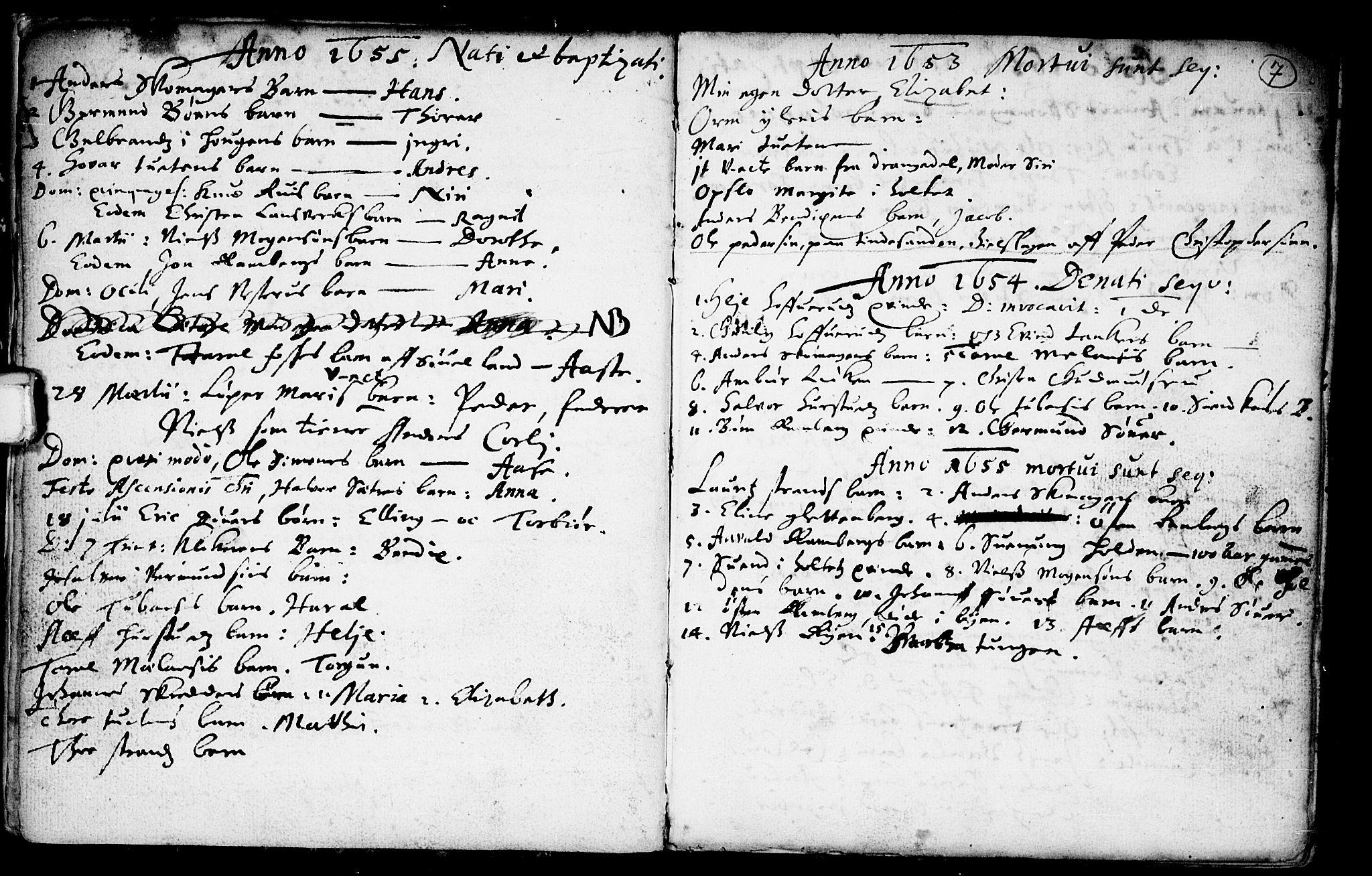 SAKO, Heddal kirkebøker, F/Fa/L0001: Ministerialbok nr. I 1, 1648-1699, s. 7