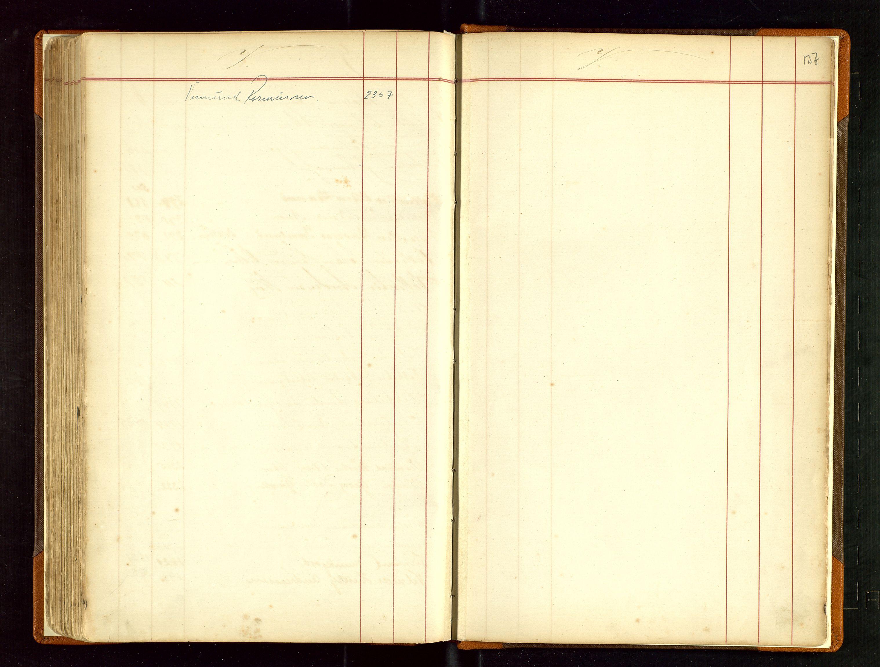 SAST, Haugesund sjømannskontor, F/Fb/Fba/L0003: Navneregister med henvisning til rullenummer (fornavn) Haugesund krets, 1860-1948, s. 137