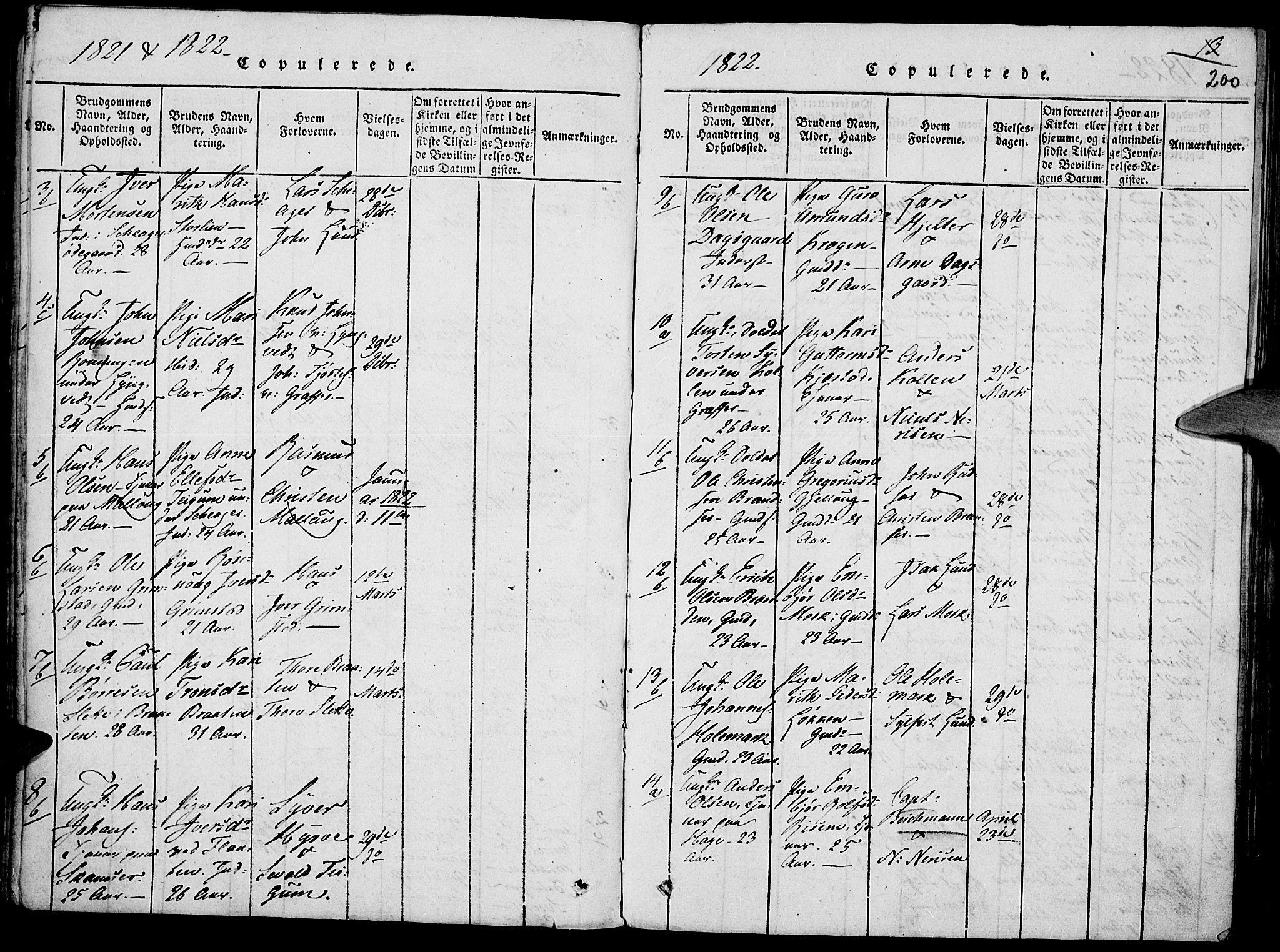 SAH, Lom prestekontor, K/L0004: Ministerialbok nr. 4, 1815-1825, s. 200