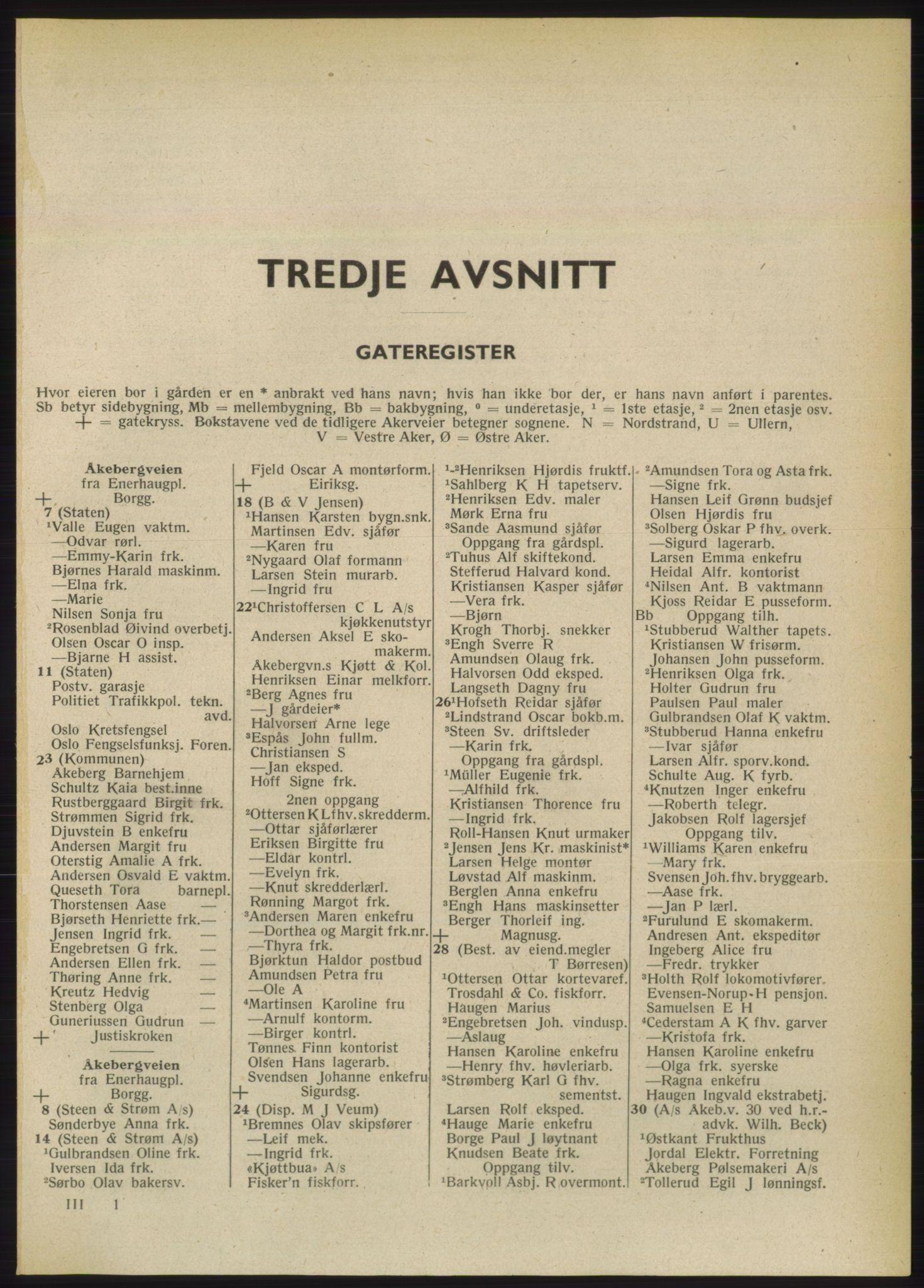 PUBL, Kristiania/Oslo adressebok, 1949, s. 1701