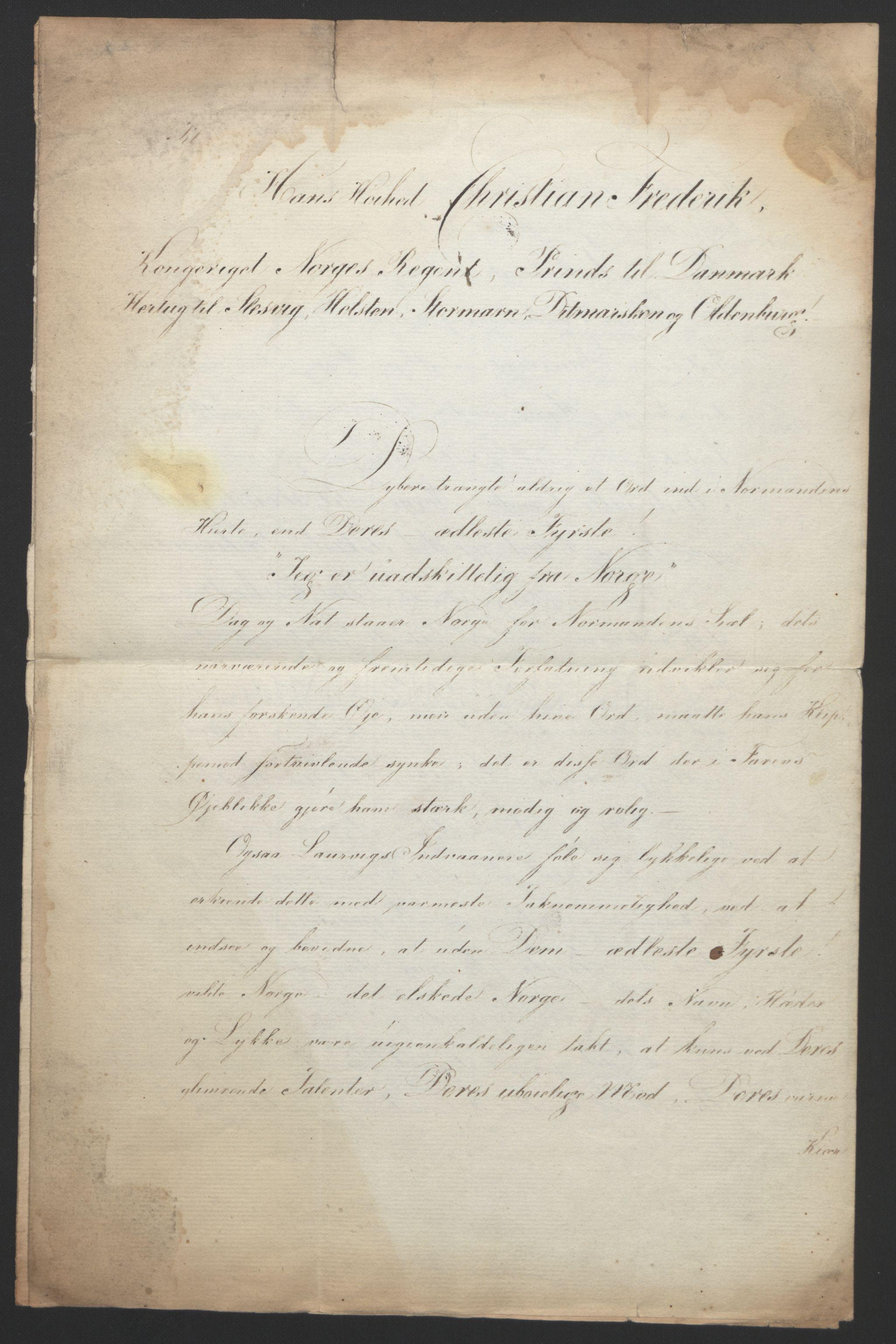 RA, Statsrådssekretariatet, D/Db/L0007: Fullmakter for Eidsvollsrepresentantene i 1814. , 1814, s. 30