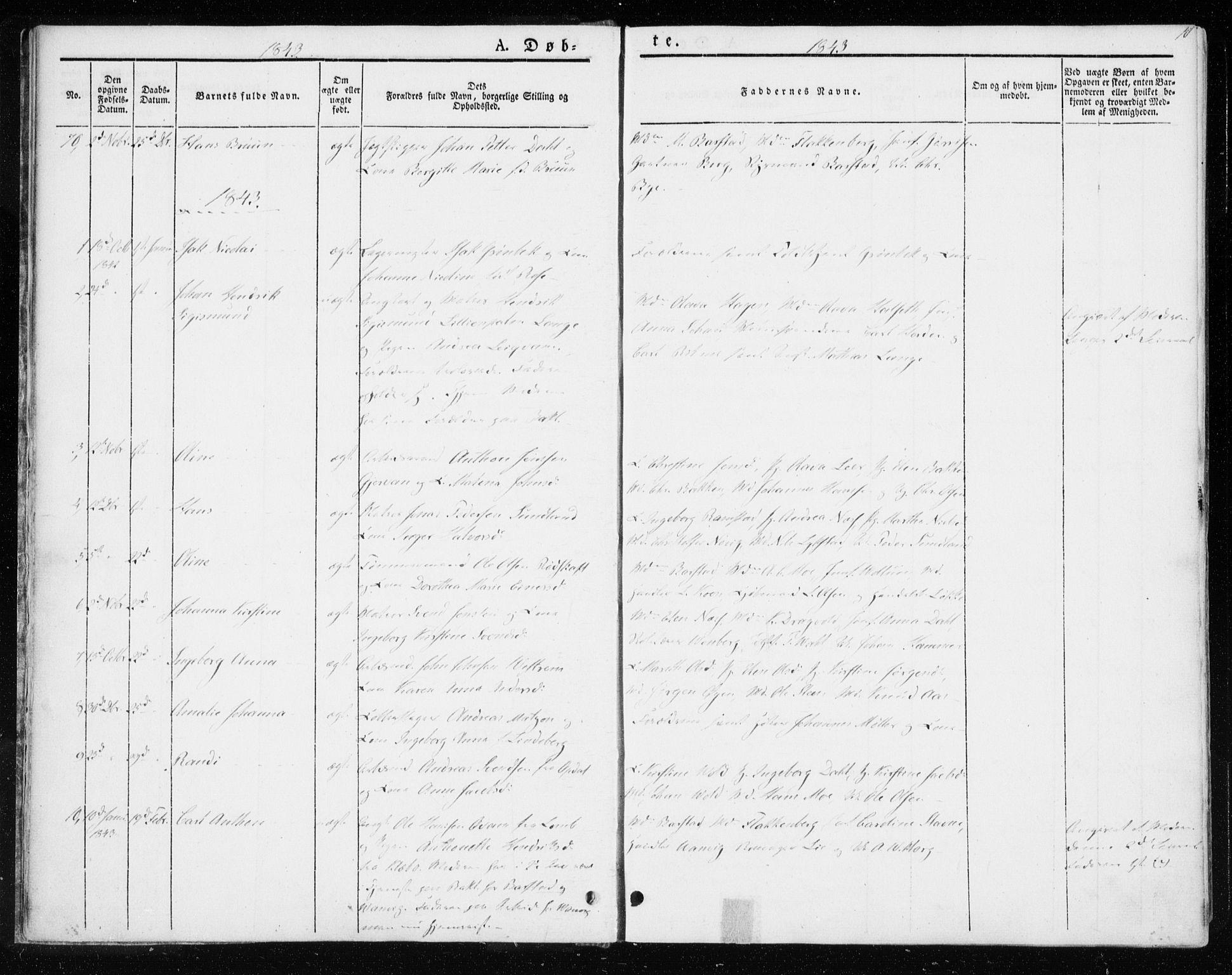 SAT, Ministerialprotokoller, klokkerbøker og fødselsregistre - Sør-Trøndelag, 604/L0183: Ministerialbok nr. 604A04, 1841-1850, s. 10