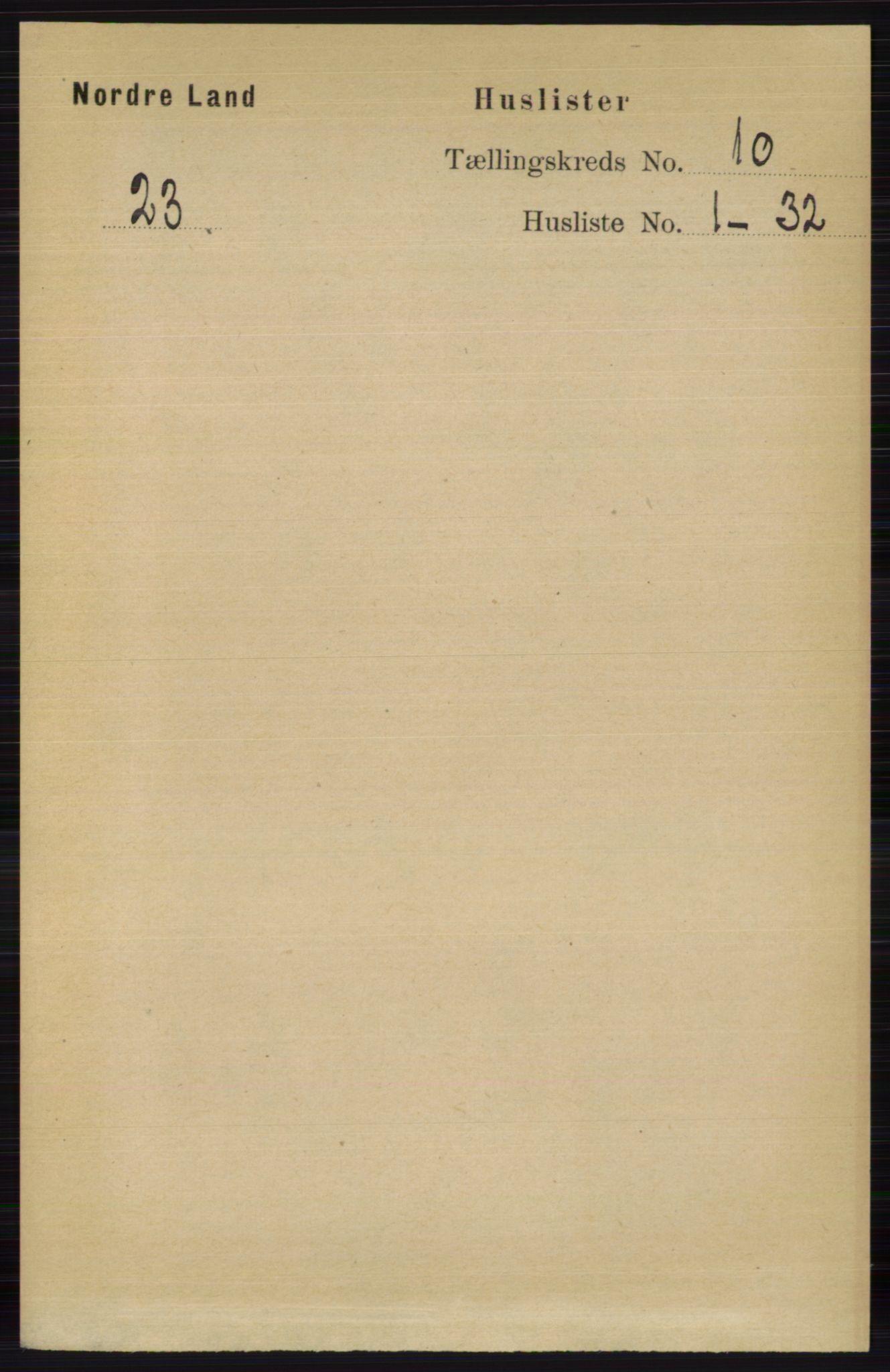 RA, Folketelling 1891 for 0538 Nordre Land herred, 1891, s. 2770