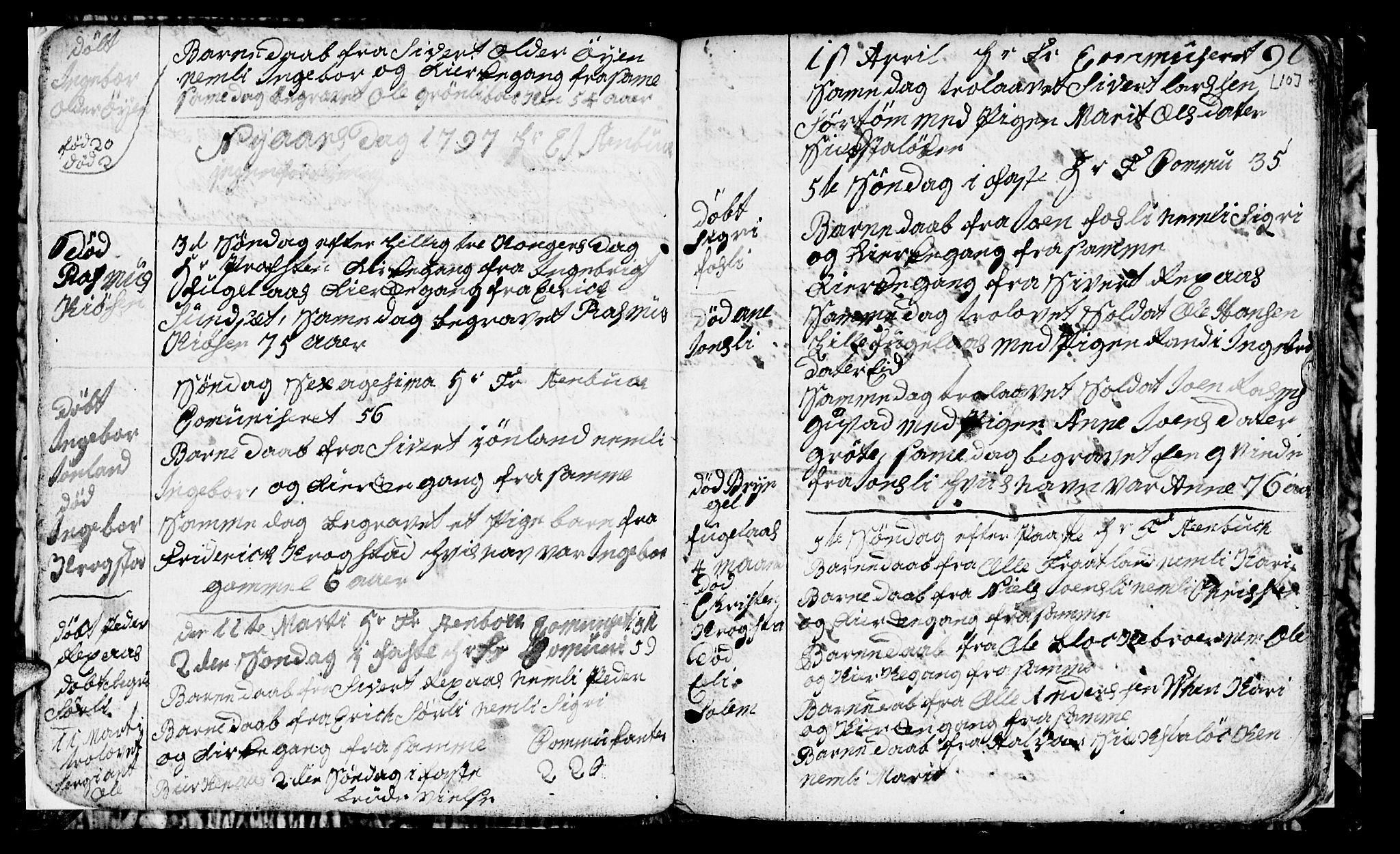 SAT, Ministerialprotokoller, klokkerbøker og fødselsregistre - Sør-Trøndelag, 694/L1129: Klokkerbok nr. 694C01, 1793-1815, s. 10